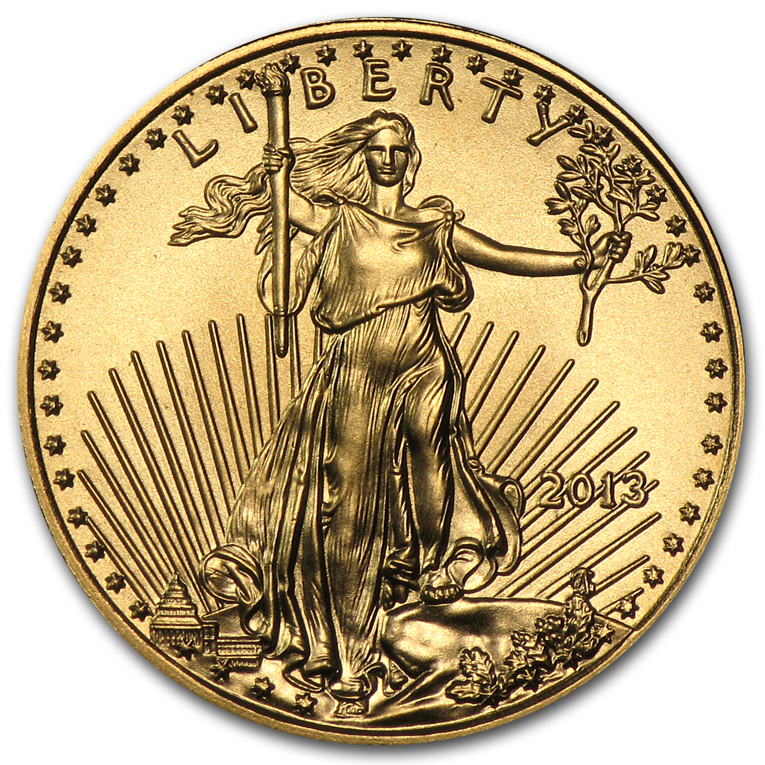 2013 1/10 oz Gold American Eagle BU