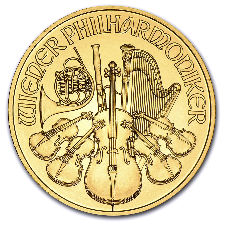 2013 1 oz Gold Austrian Philharmonic