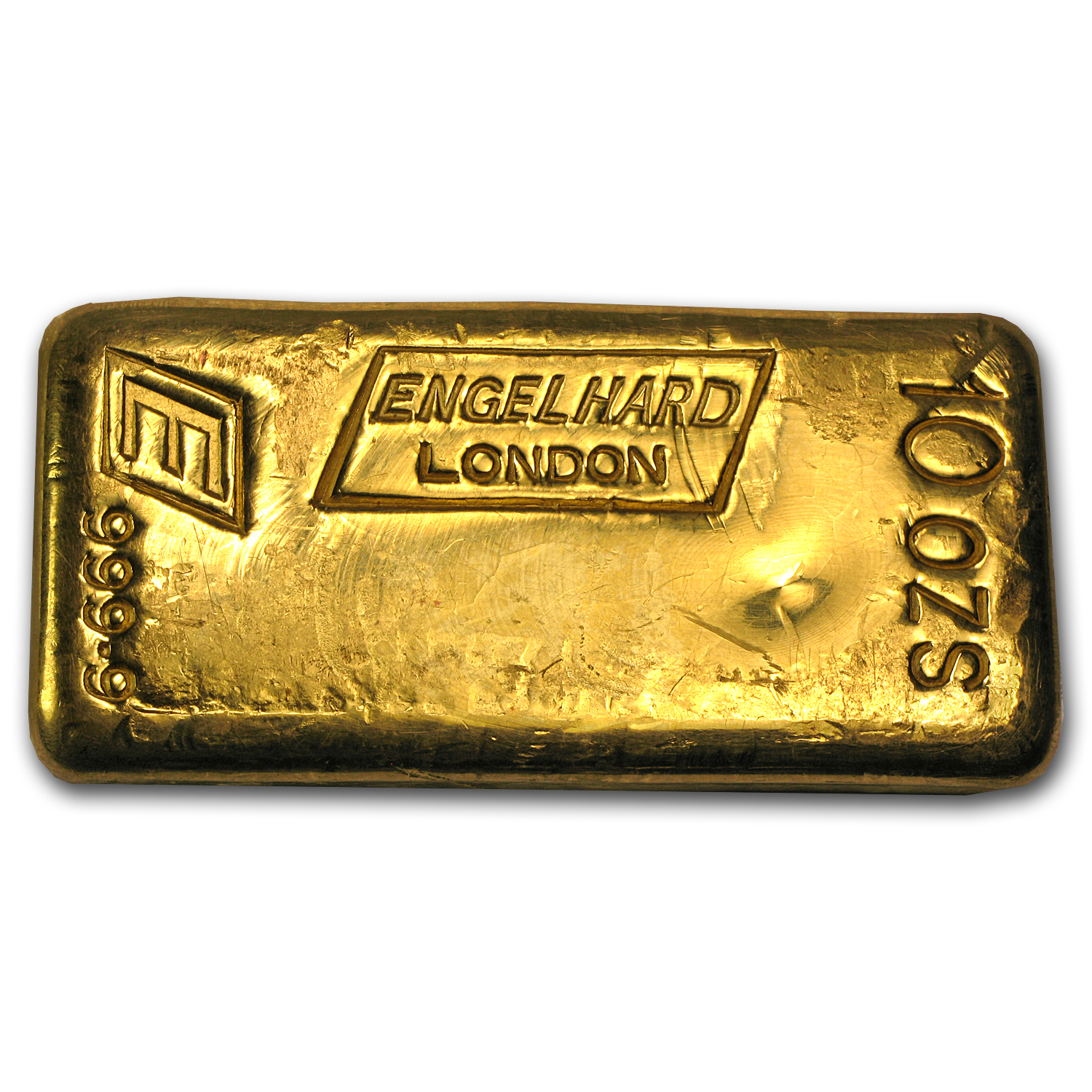 10 oz Gold Bar - Engelhard-London (Poured)
