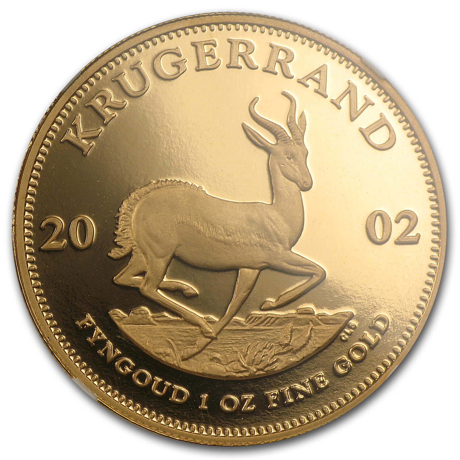 2002 South Africa 1 oz Gold Krugerrand PF-69 Ultra Cameo NGC