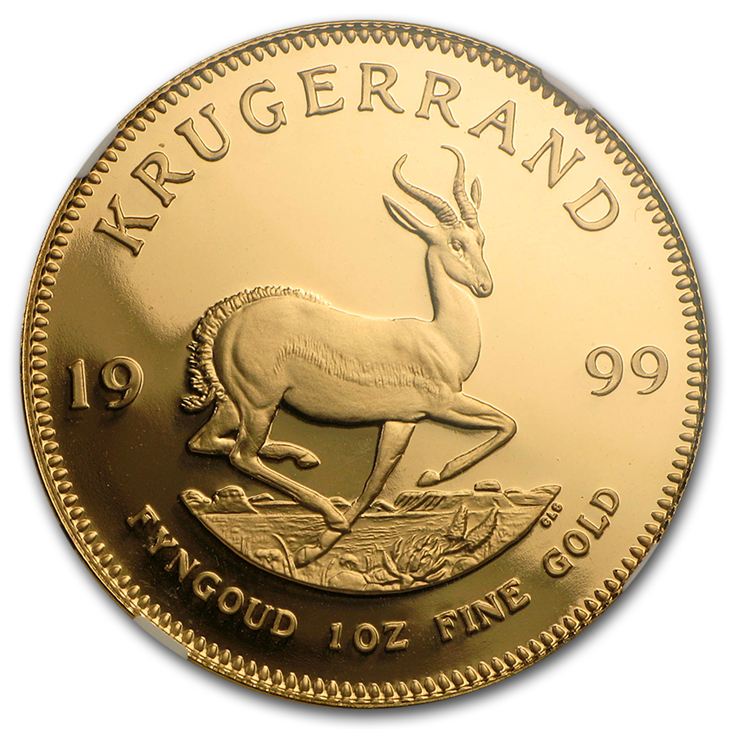 1999 South Africa 1 oz Gold Krugerrand PF-69 NGC
