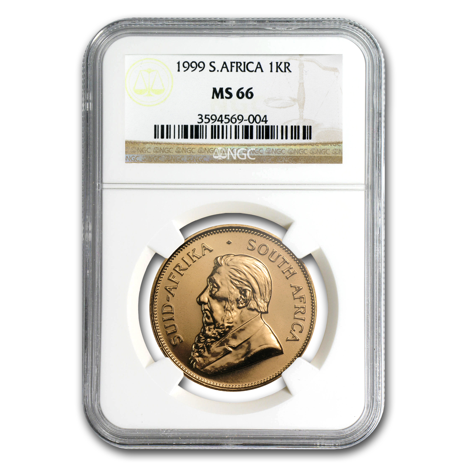 1999 1 oz Gold South African Krugerrand MS-66 NGC