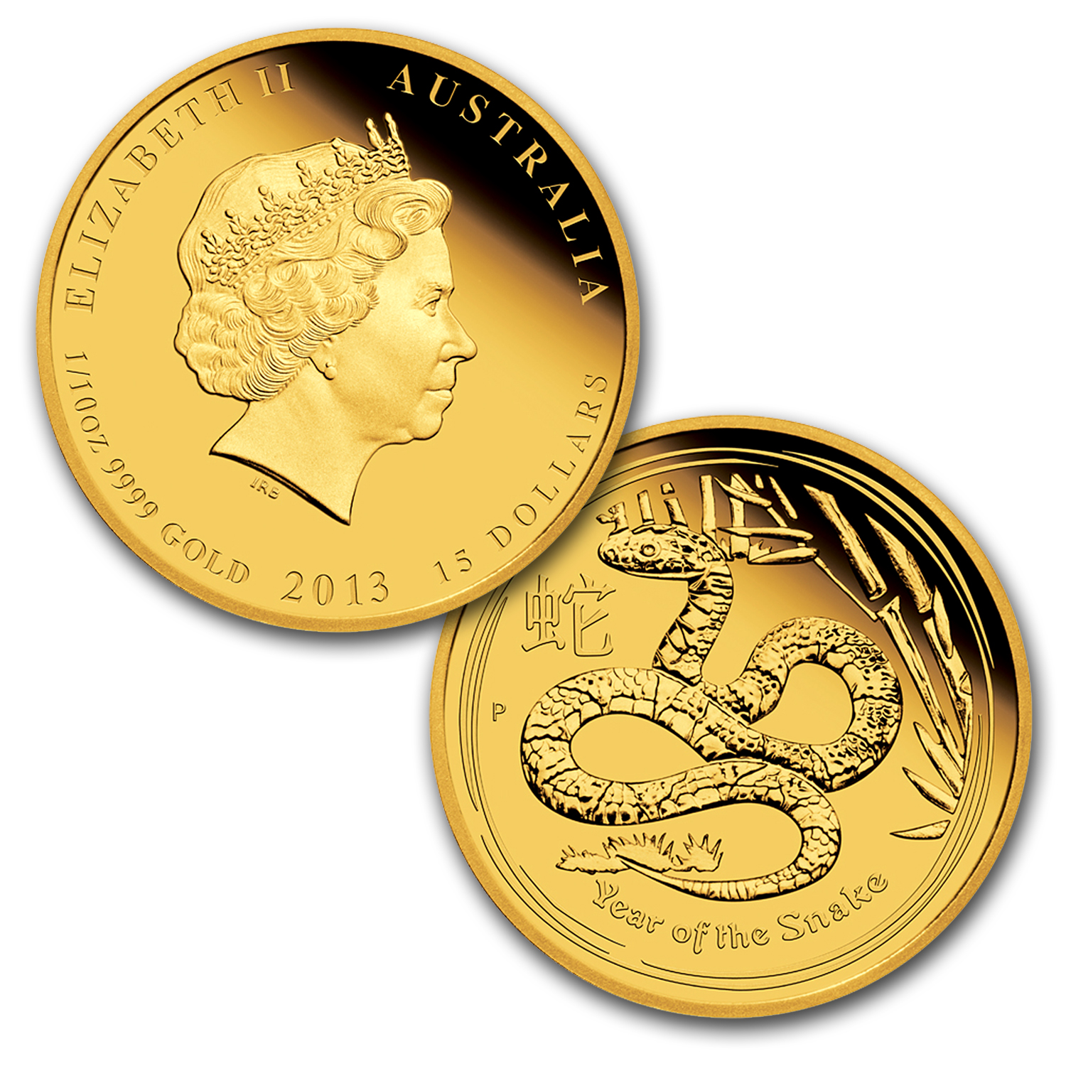 2013 Proof Gold 1.35 oz Year of the Snake 3-Coin Set (Series II)