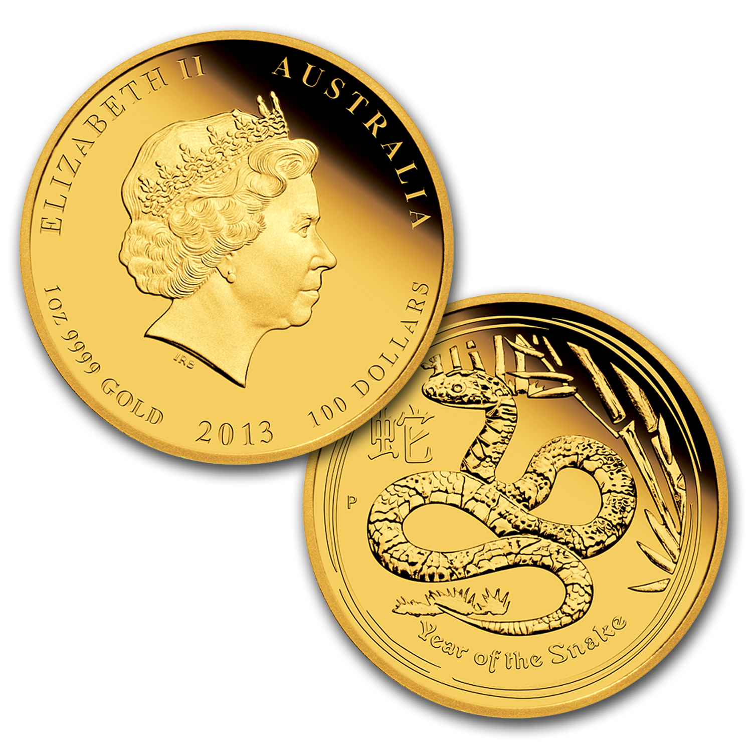 2013 Australia 3-Coin Gold Snake Proof Set (Series II)