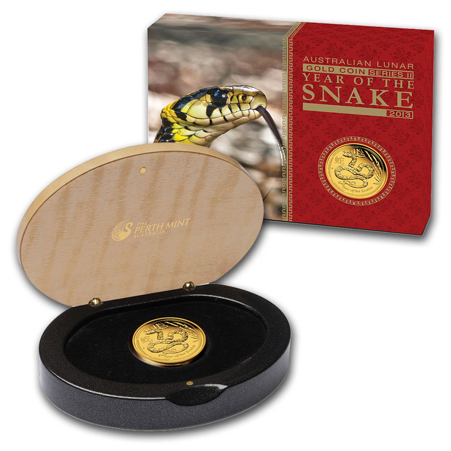 2013 Gold 1/4 oz Lunar Year of the Snake Proof (Series II)