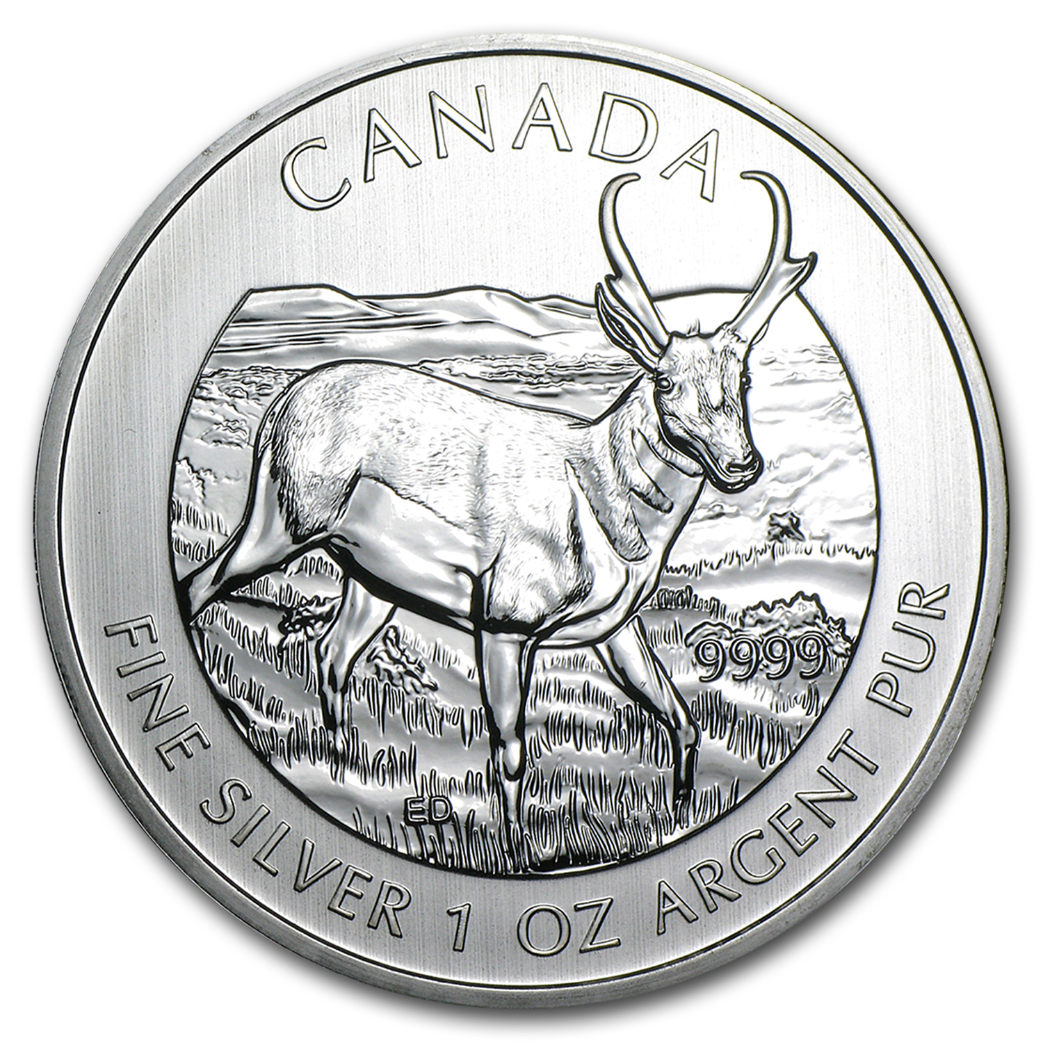 2013 Canada 1 oz Silver Wildlife Series Pronghorn Antelope