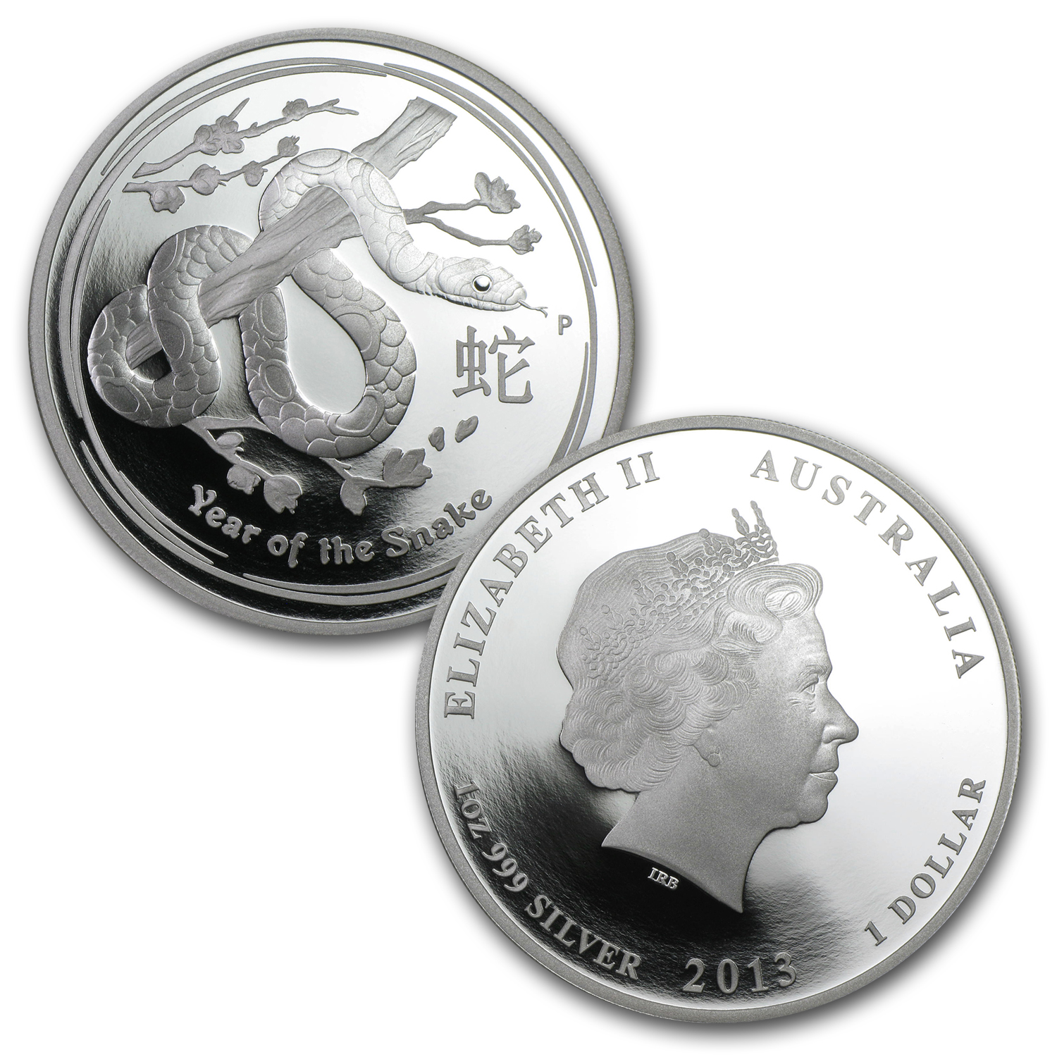 2013 Australia 3-Coin Silver Year of the Snake Proof Set