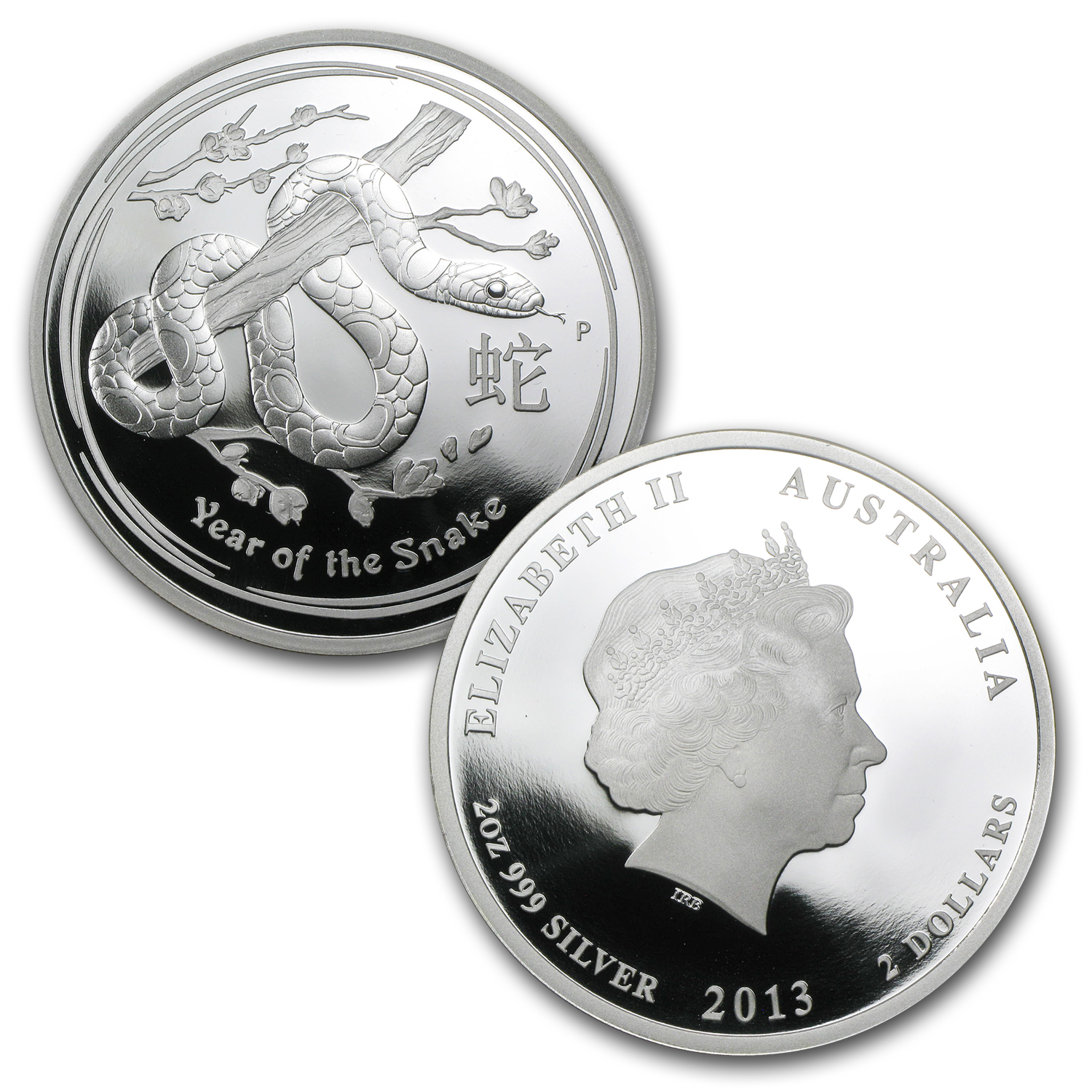 2013 Year of the Snake - Silver 3-Coin Proof Set - (Series II)