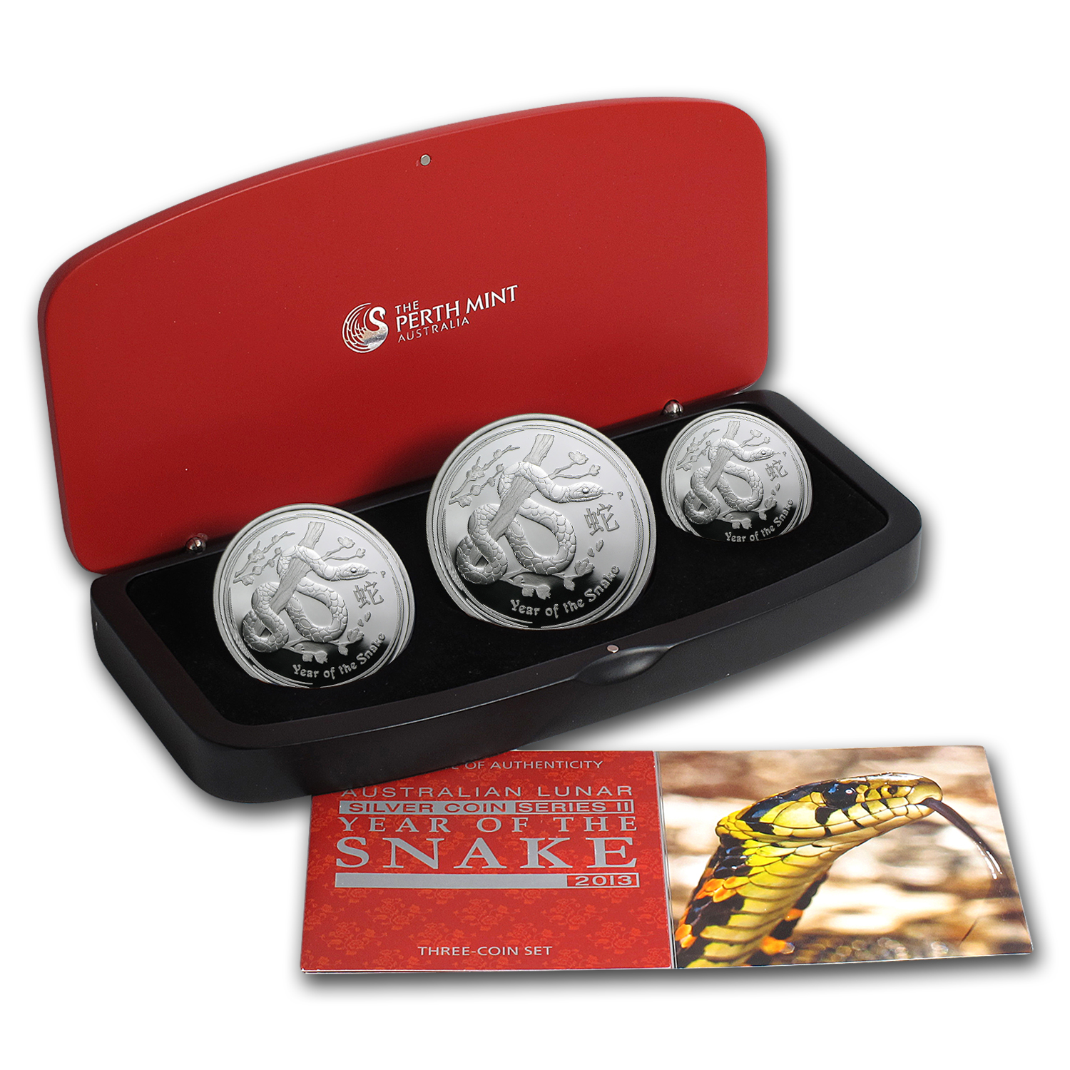 2013 3-Coin Silver Australian Year of the Snake Proof Set