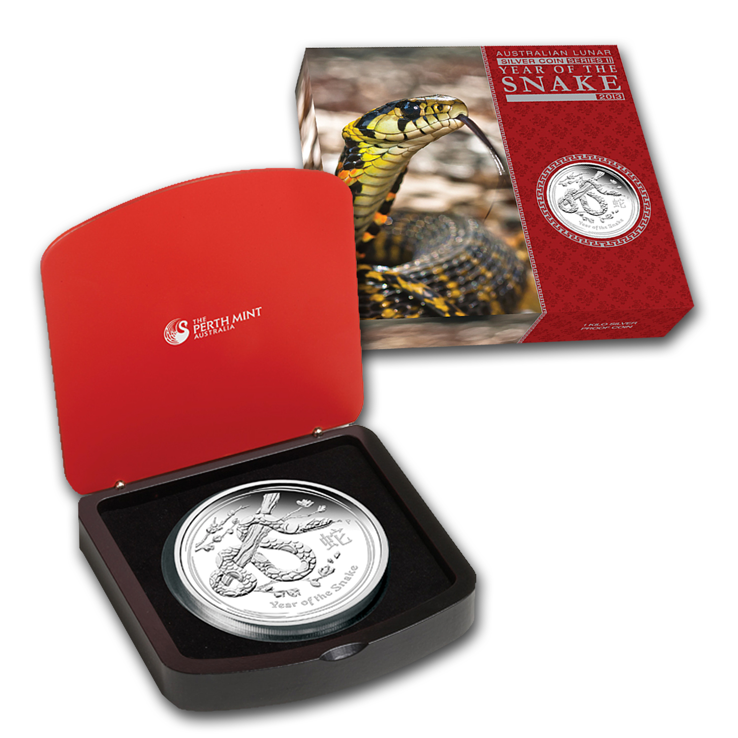 2013 Australia 1 kilo Silver Year of the Snake Proof