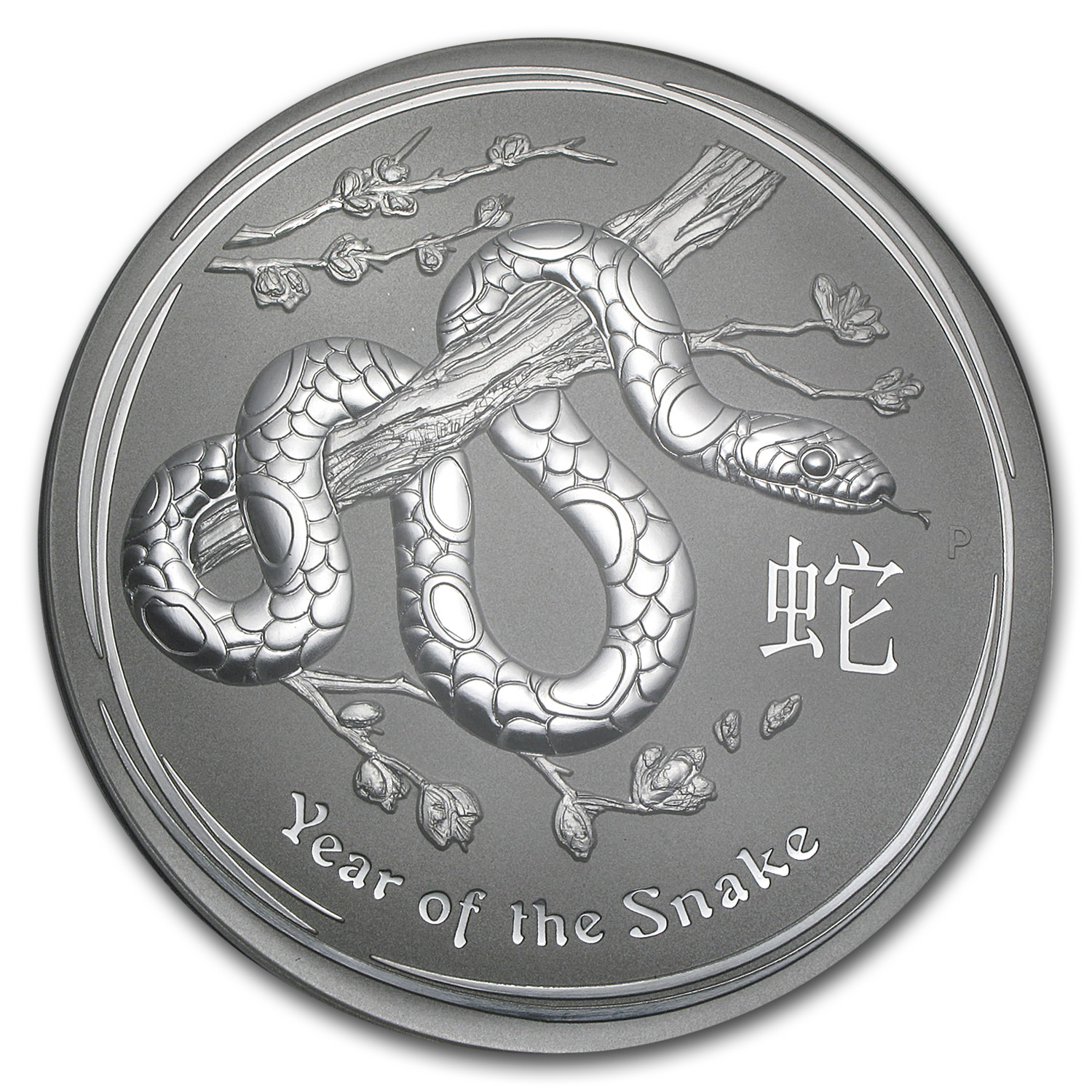 2013 1 Kilo Silver Australian Year of the Snake BU