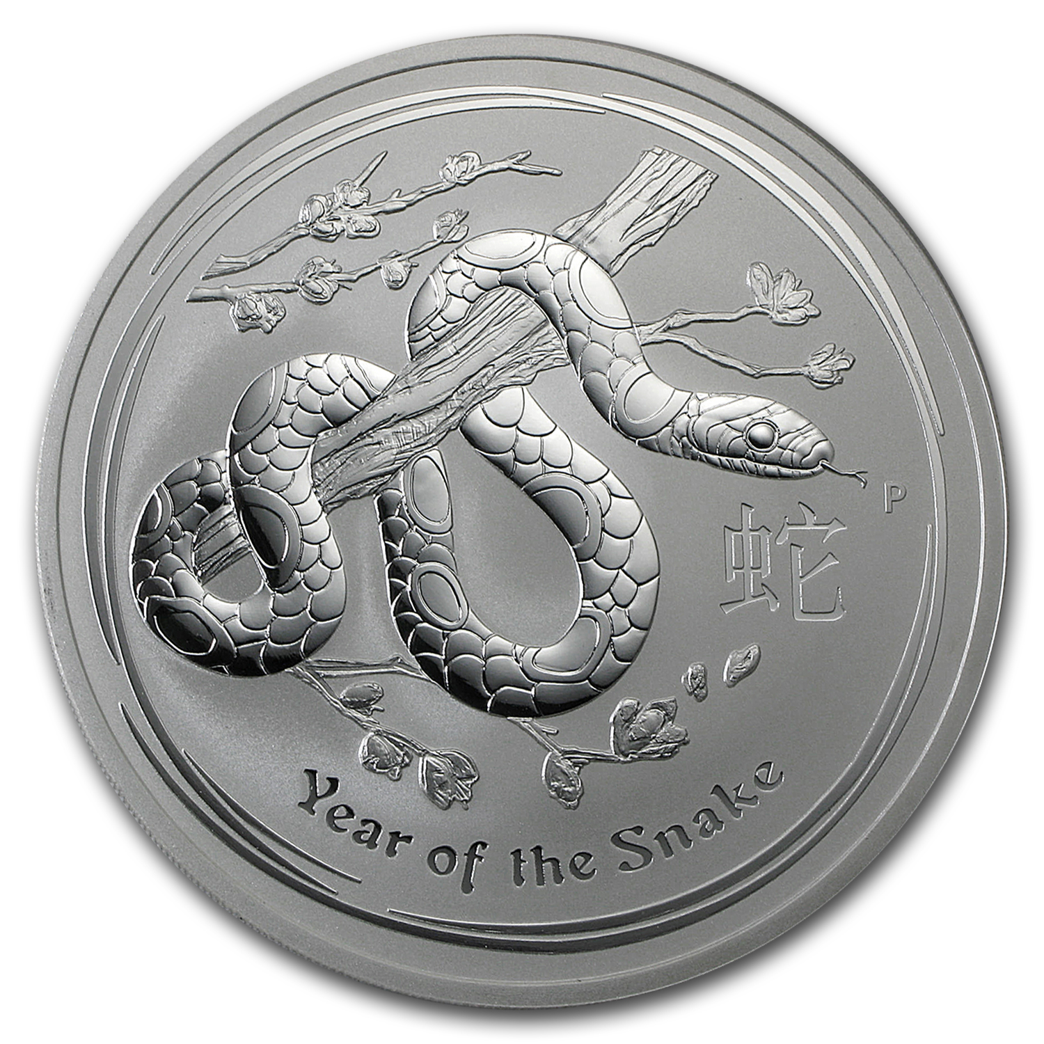 2013 Australia 10 oz Silver Year of the Snake BU