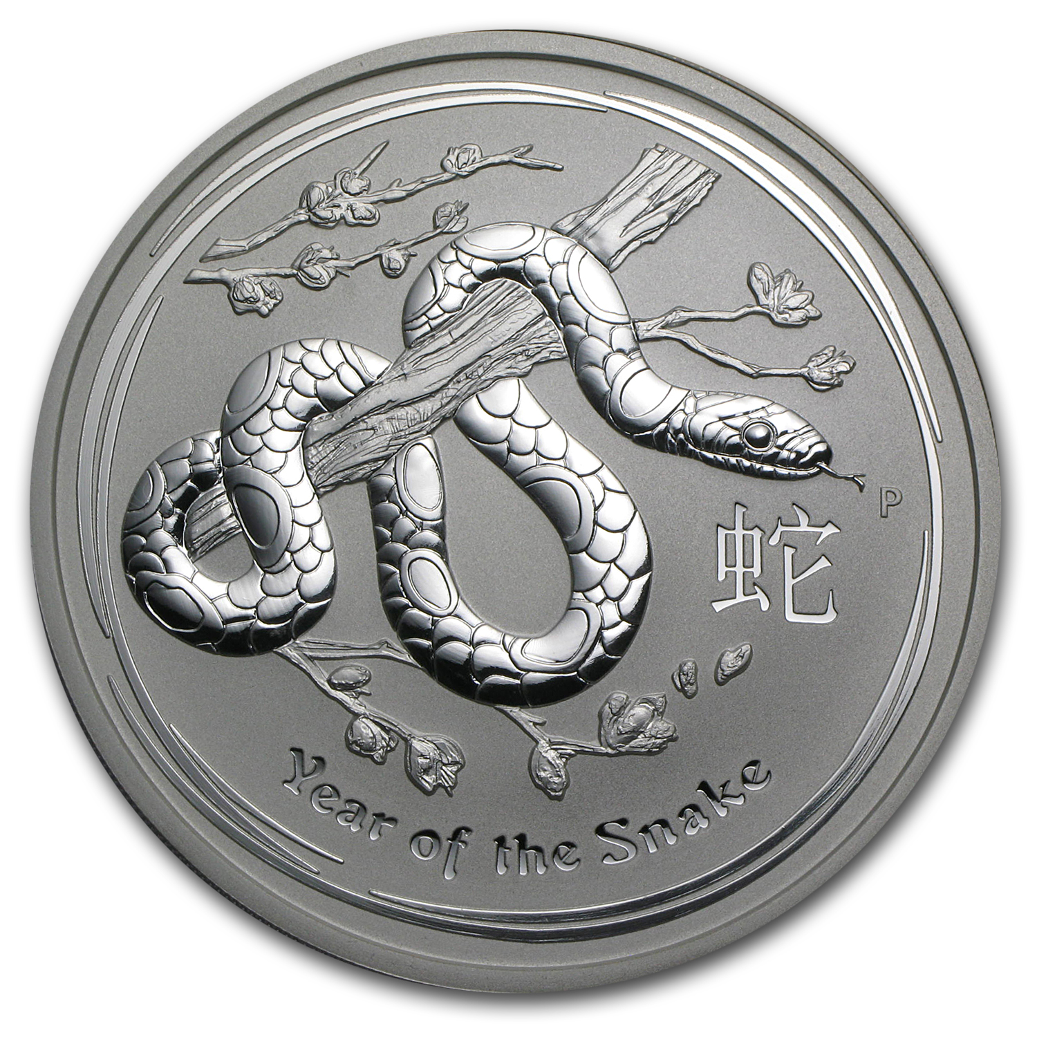 2013 5 oz Silver Australian Year of the Snake BU