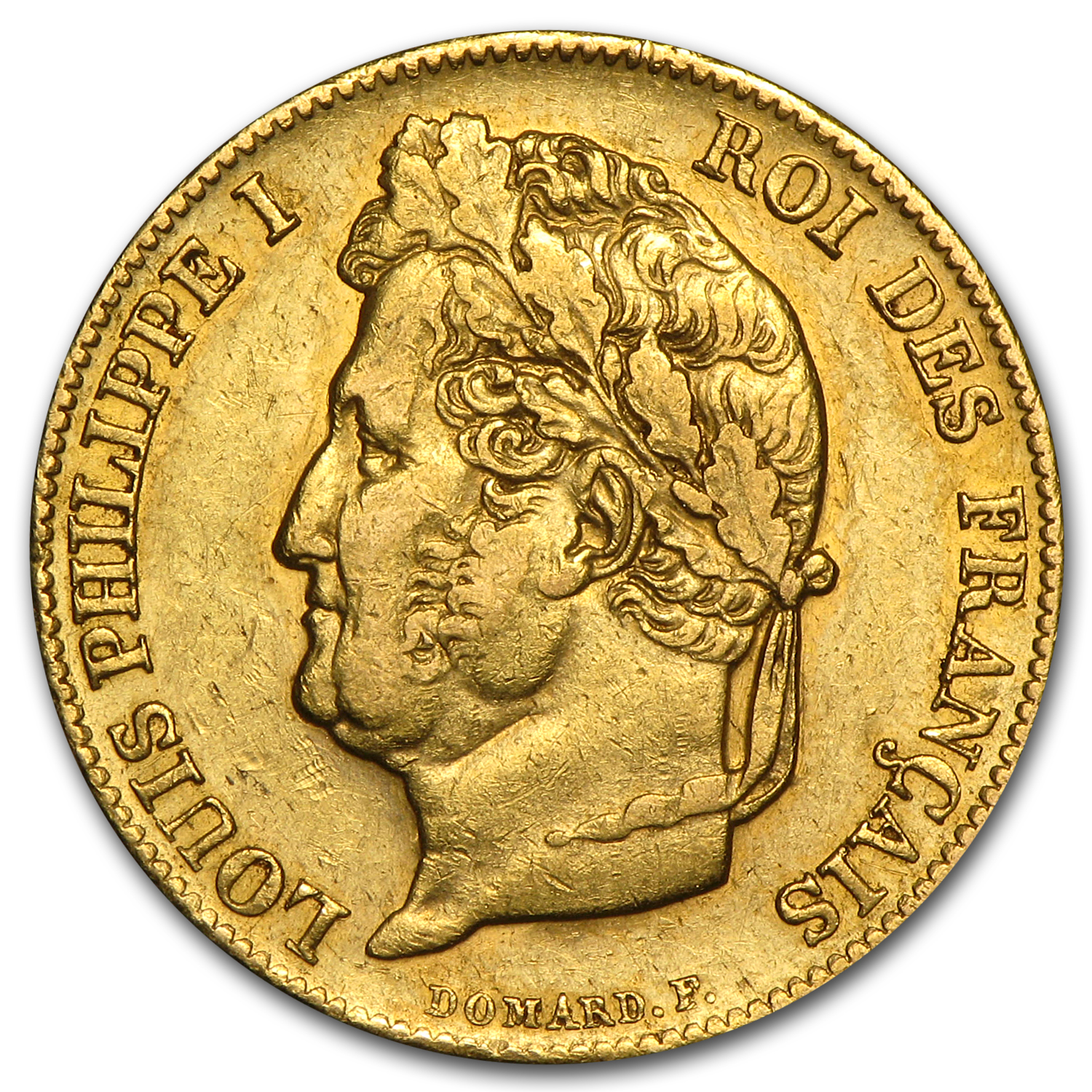 1830-1848 France Gold 20 Francs Louis Philippe XF
