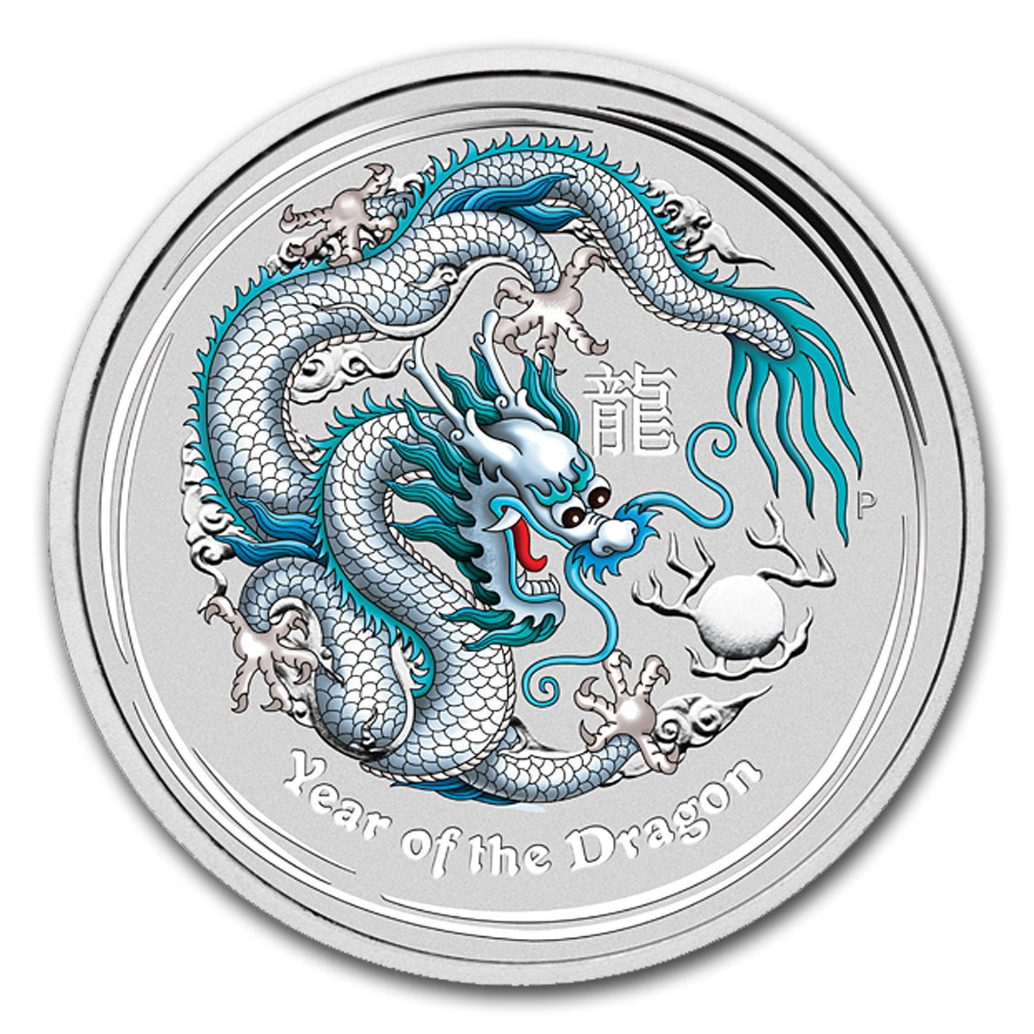 2012 1 oz Silver Australian White Dragon BU (ANA, w/Box & COA)