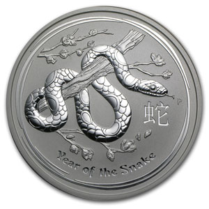 2013 10 Kilo Silver Australian Year of the Snake BU (321.5 oz)