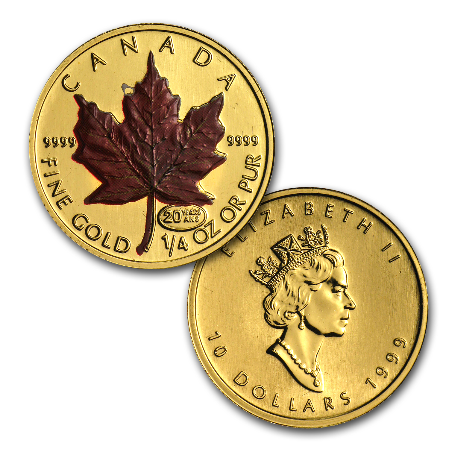 1999 5-Coin Canadian Gold Maple Leaf Red Maple Set (w/Box & CoA)