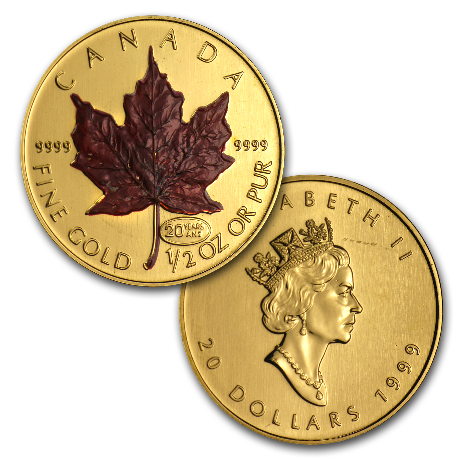 1999 Canada 5-Coin Gold Maple Leaf Red Maple Set (w/Box & COA)