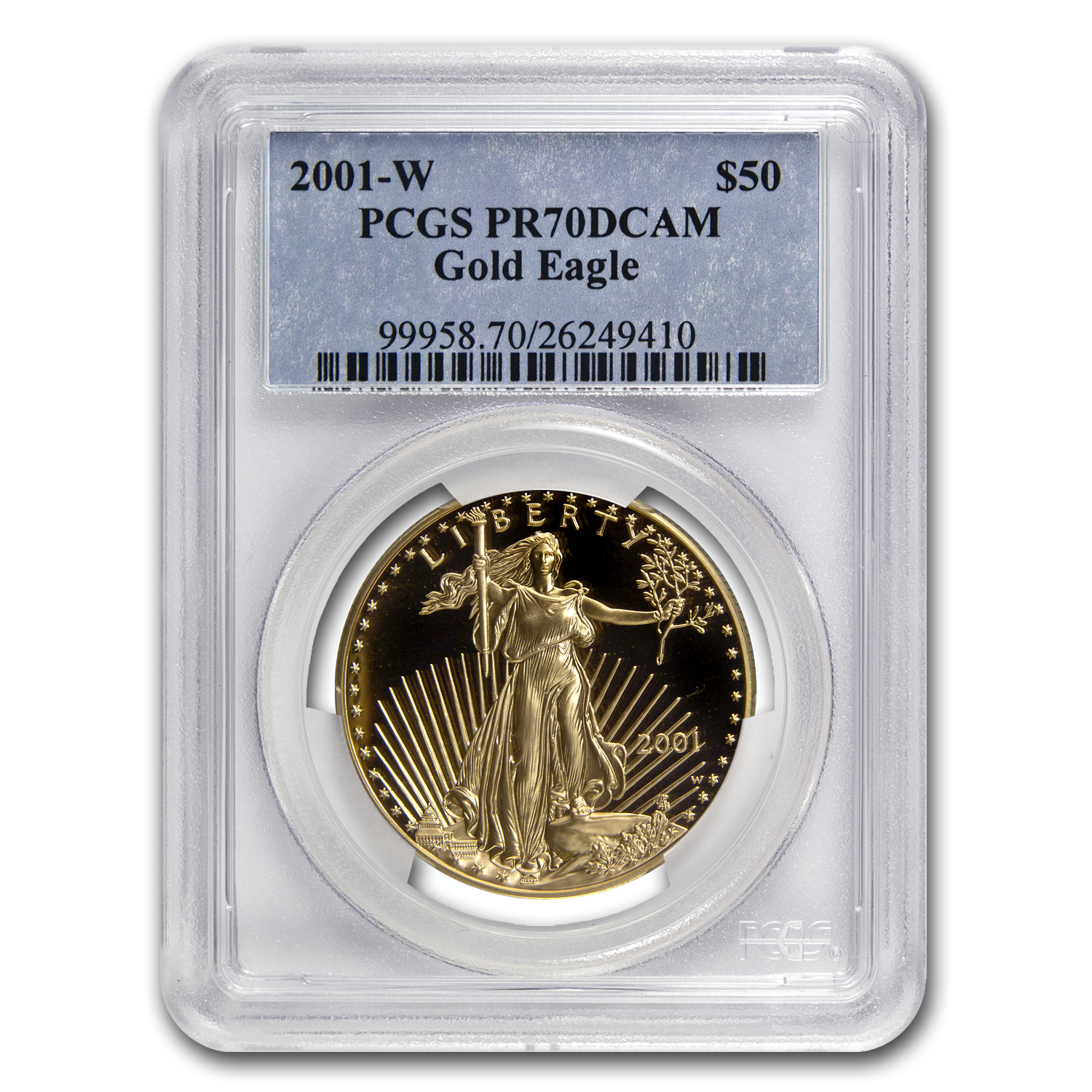 2001-W 1 oz Proof Gold American Eagle PR-70 PCGS (Registry Set)