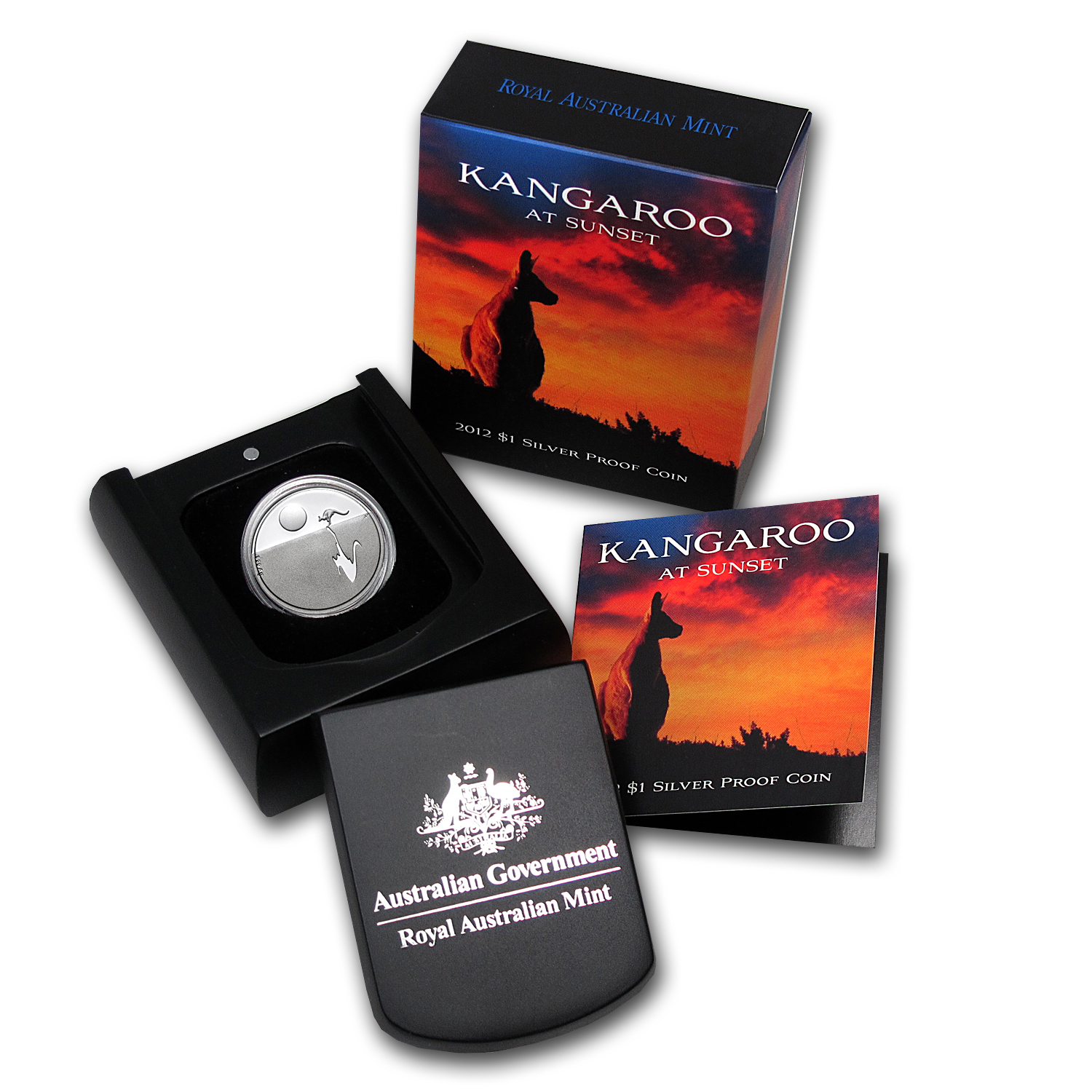 Royal Australian Mint 2012 Silver $1 Kangaroo at Sunset