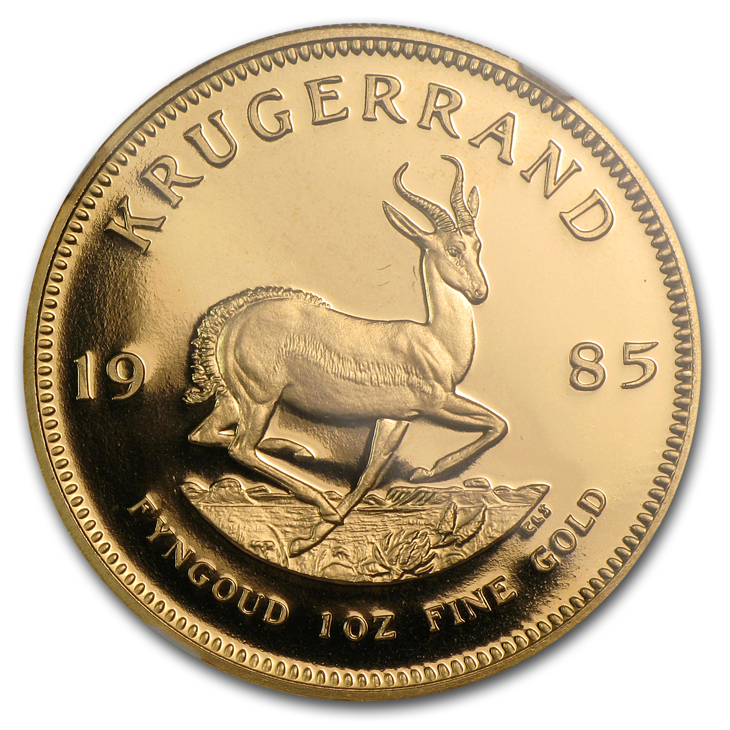 1985 1 oz Gold South African Krugerrand PF-69 NGC
