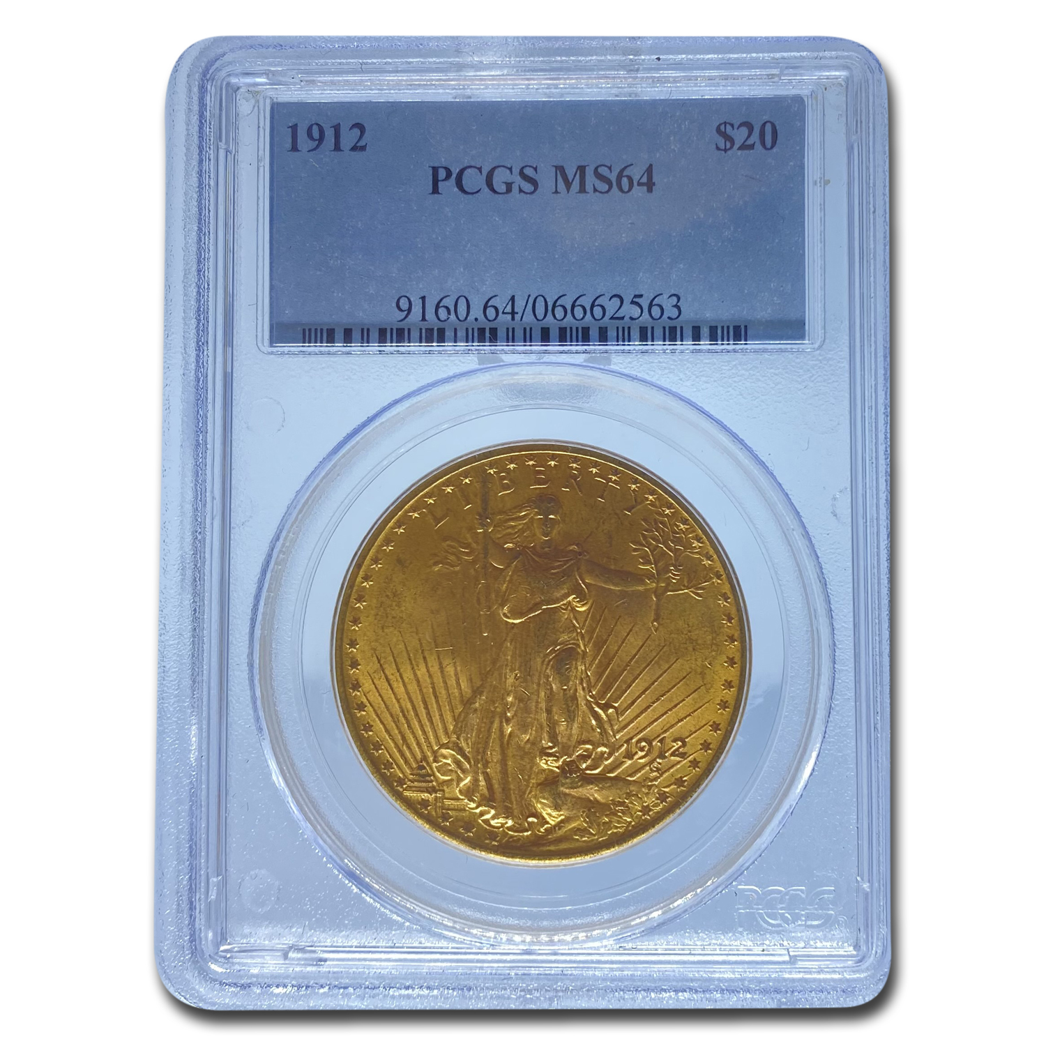 1912 $20 St. Gaudens Gold Double Eagle MS-64 PCGS