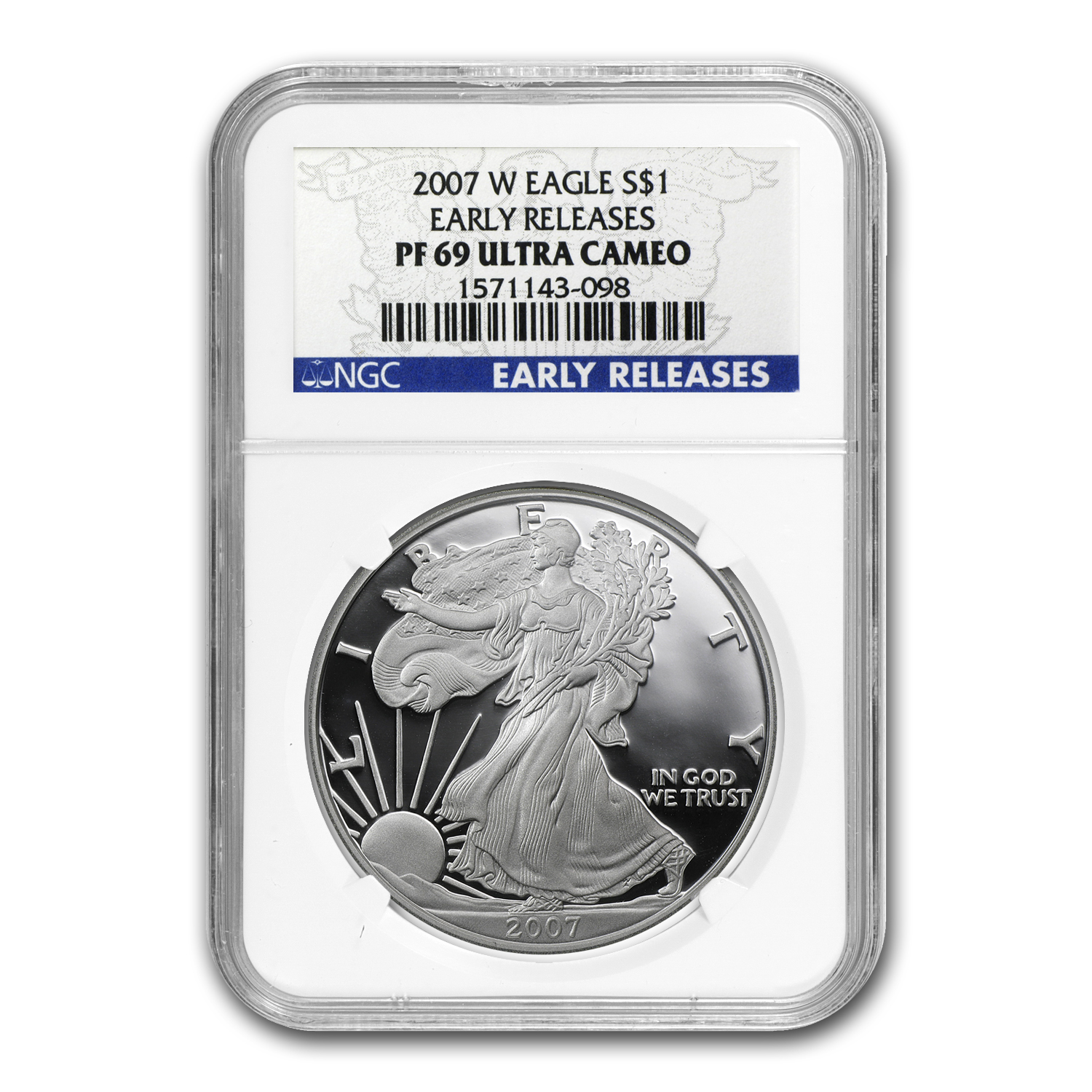2007-W Proof Silver American Eagle PF-69 NGC (ER)