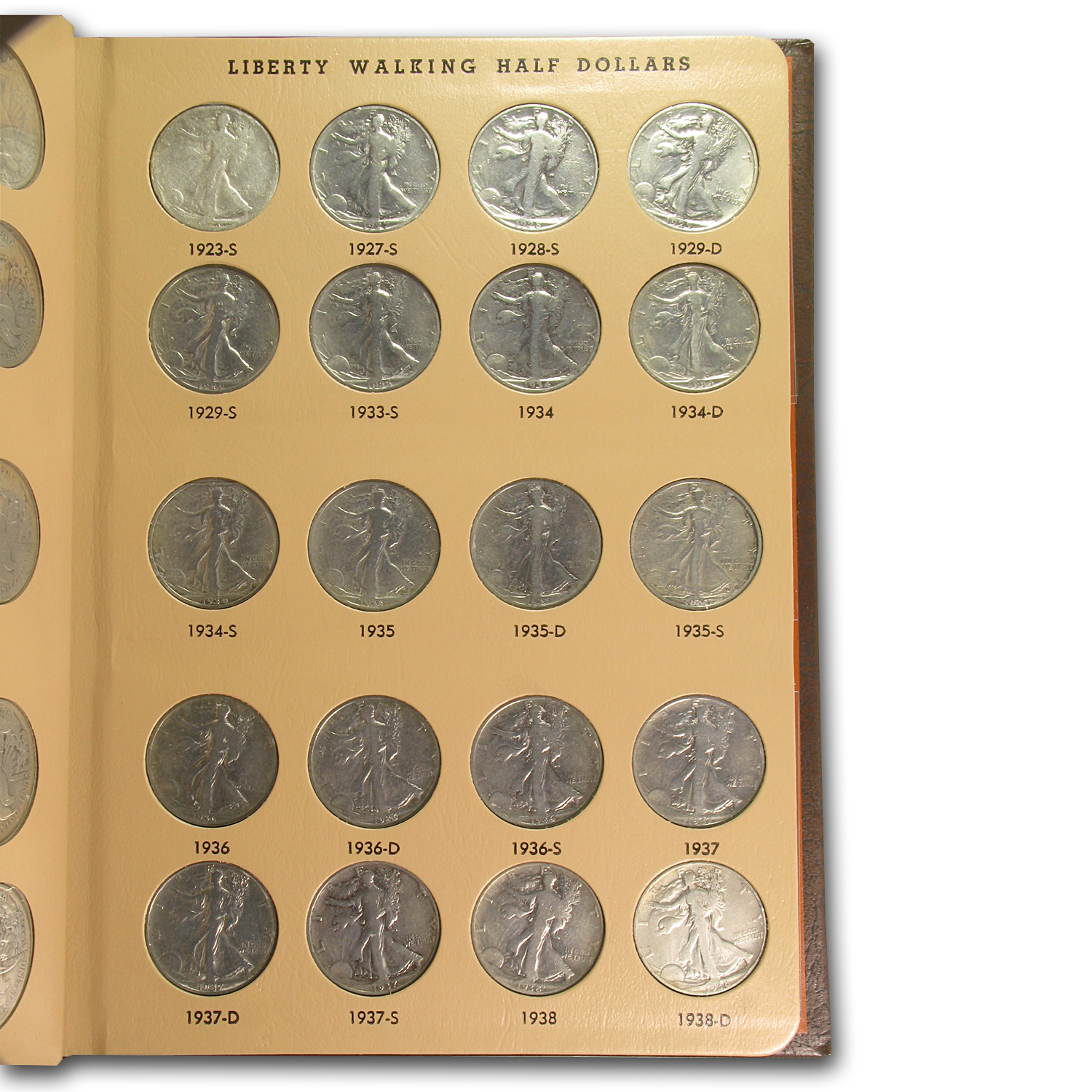 1916-1947 Walking Liberty Half Dollar Complete Set (Cleaned)