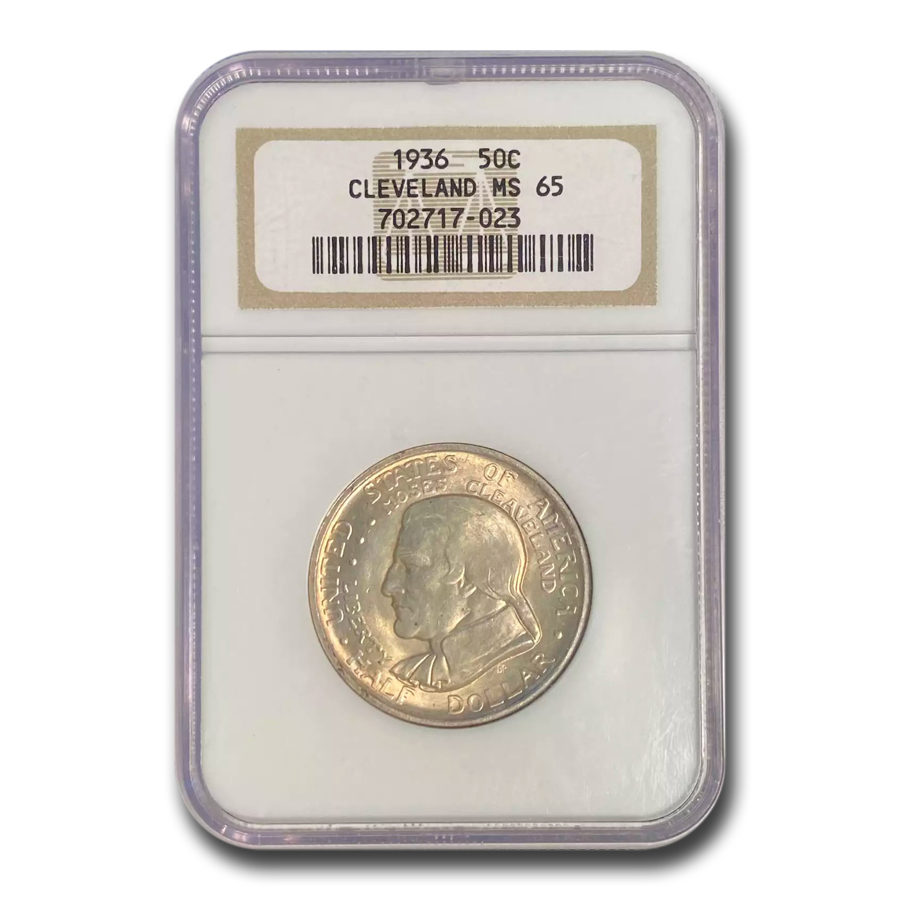 1936 Cleveland/Great Lakes Half Dollar MS-65 NGC