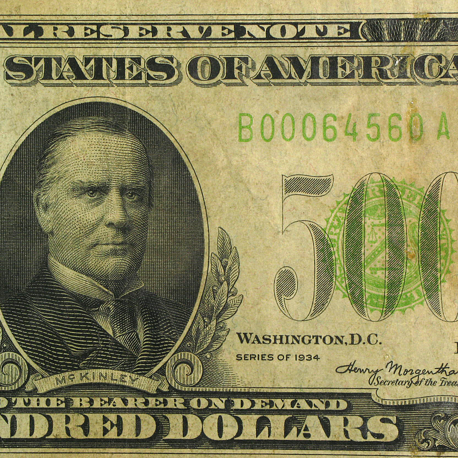 1934 (B-New York) $500 FRN Fine/VF (LGS)