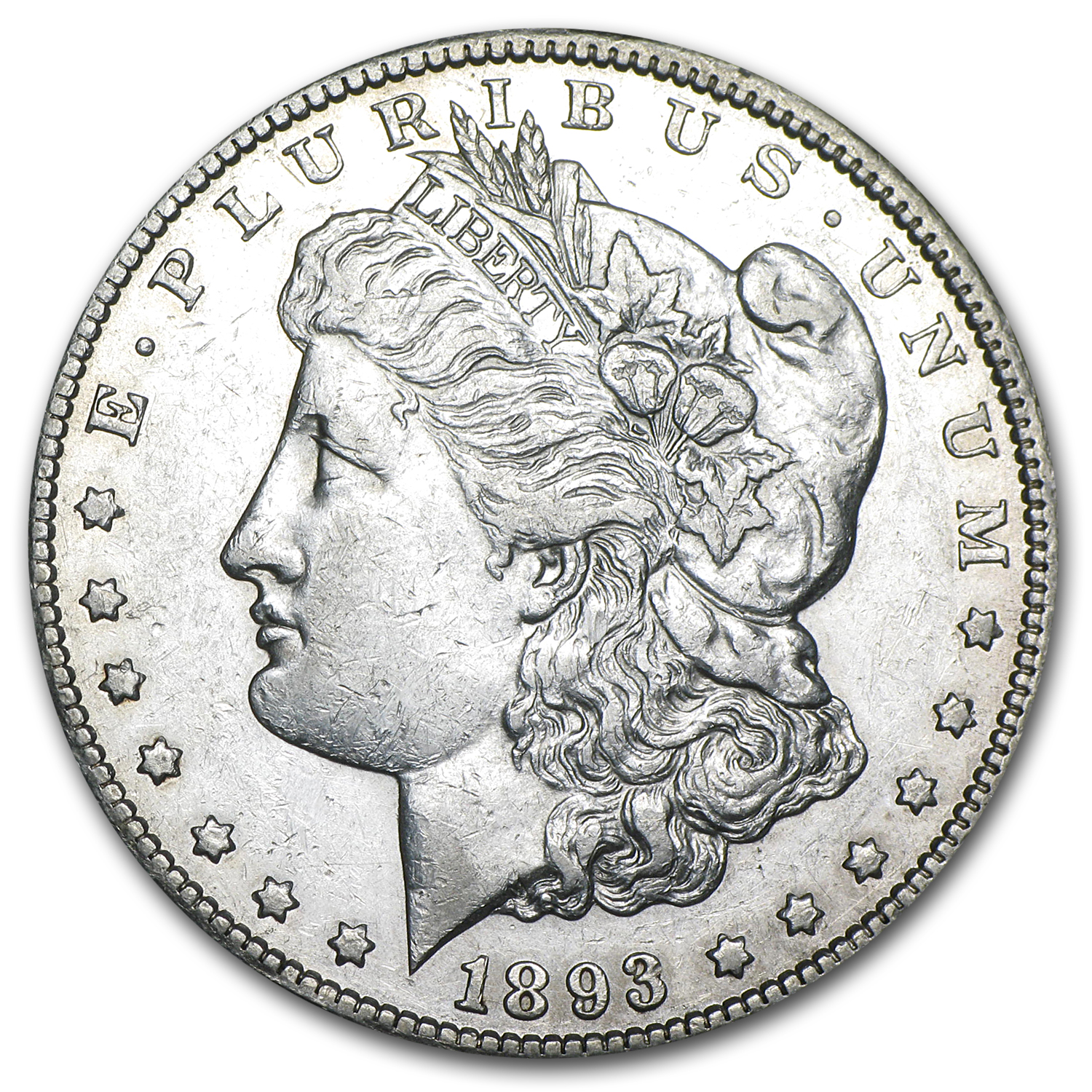 1893-CC Morgan Dollar AU