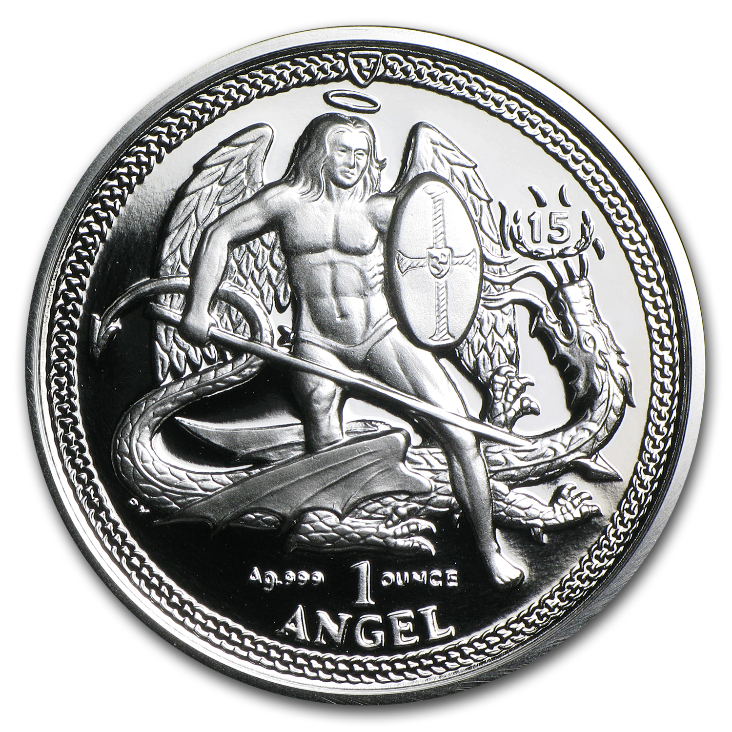 Isle of Man 2010 1 oz High Relief Proof Silver Angel