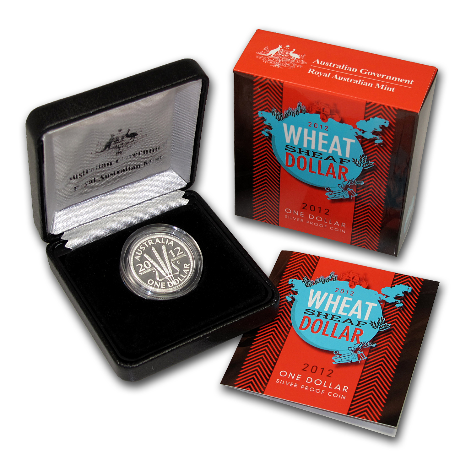 2012 Australia Silver Wheat Sheaf Dollar Proof
