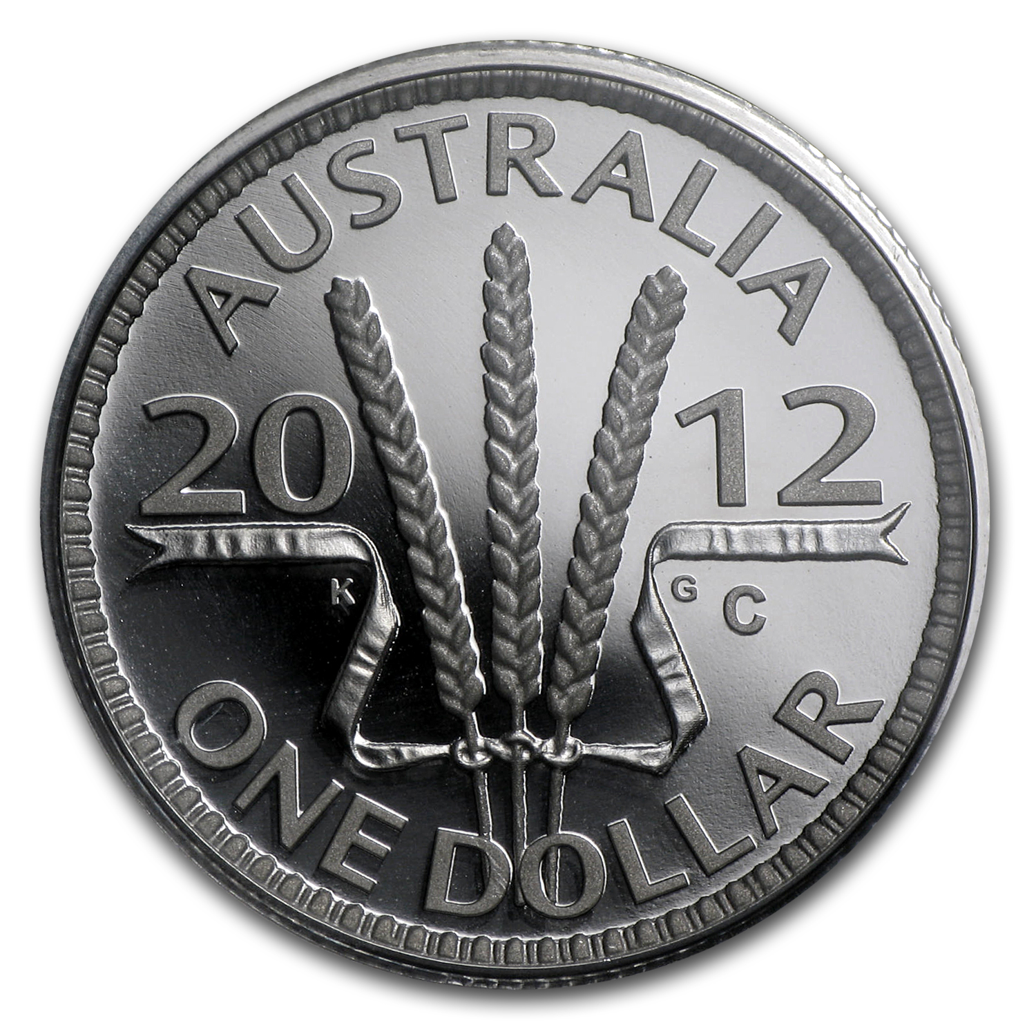 Royal Australian Mint 2012 Silver Proof - Wheat Sheaf Dollar