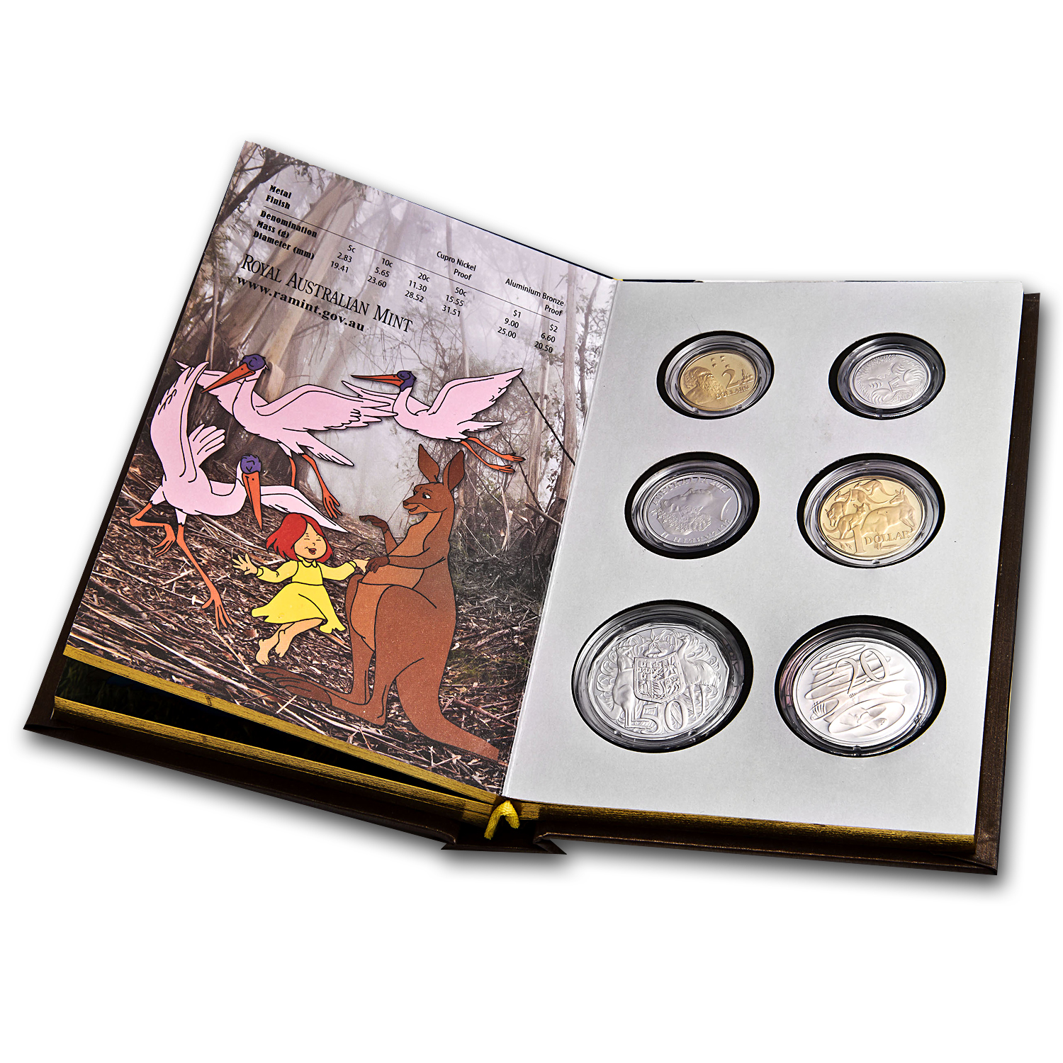 2012 Australia 6-Coin Dot & the Kangaroo Baby Proof Set