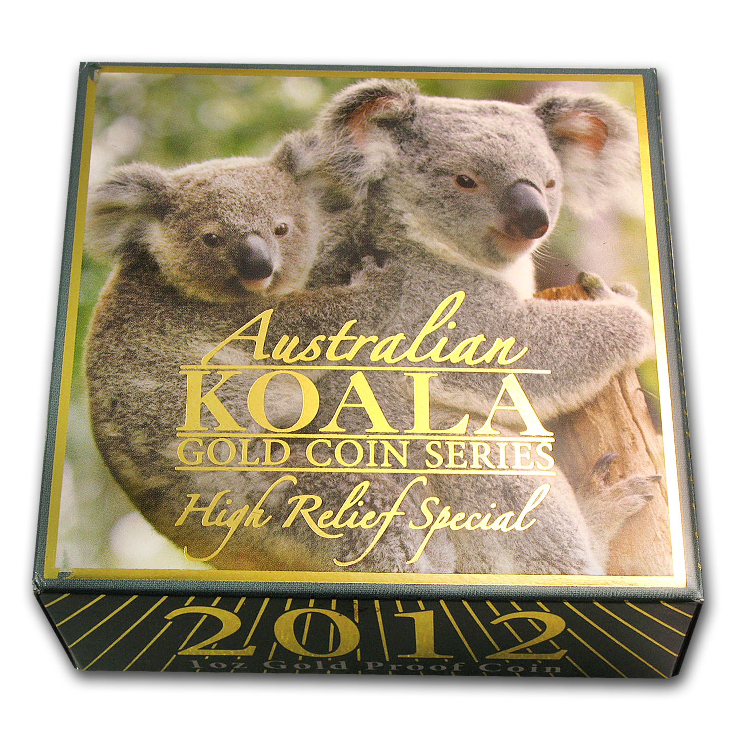 2012-P Australia 1 oz Gold Koala Proof (High Relief, Box & COA)