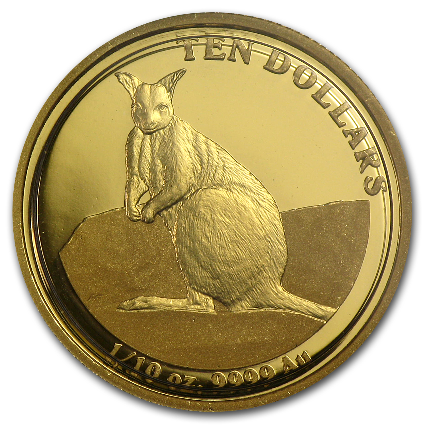 2012 Australia 1/10 oz Proof Gold Kangaroo
