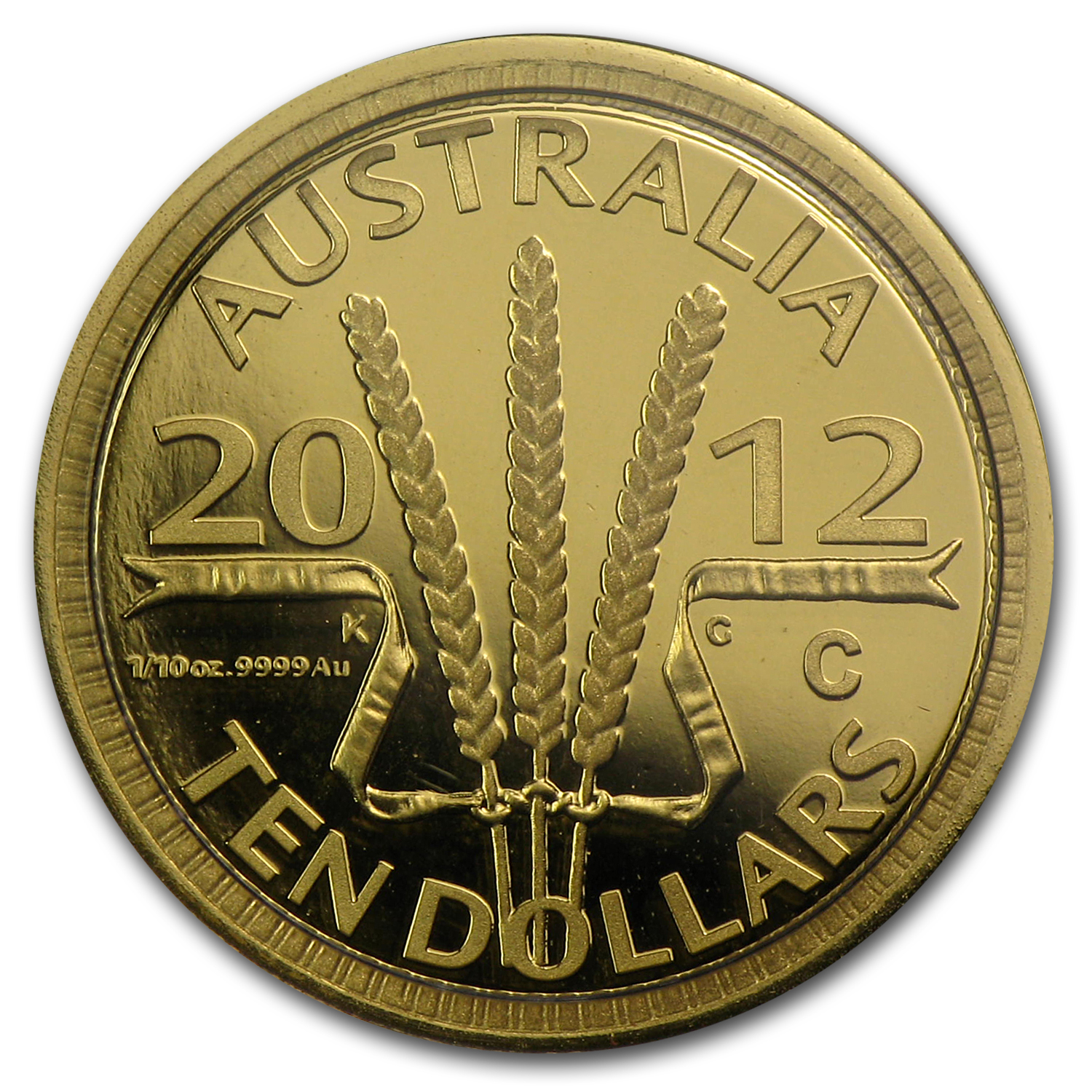 2012 Australia 1/10 oz Proof Gold Wheat Sheaf