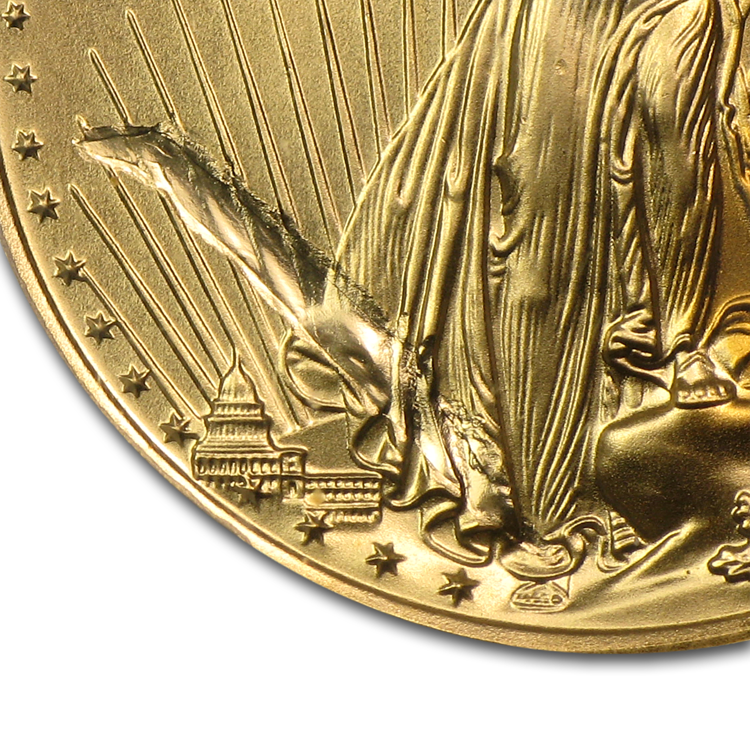 1999-W 1/4 oz Gold American Eagle MS-69 PCGS (Struck Thru Obv)