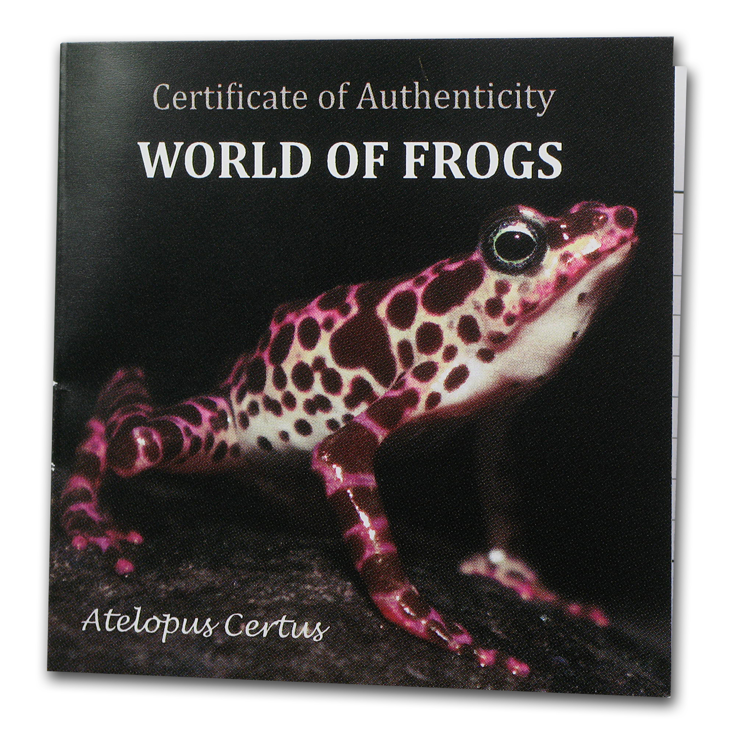 2011 Palau Proof Silver $2 World of Frogs Purple Atelopus Certus