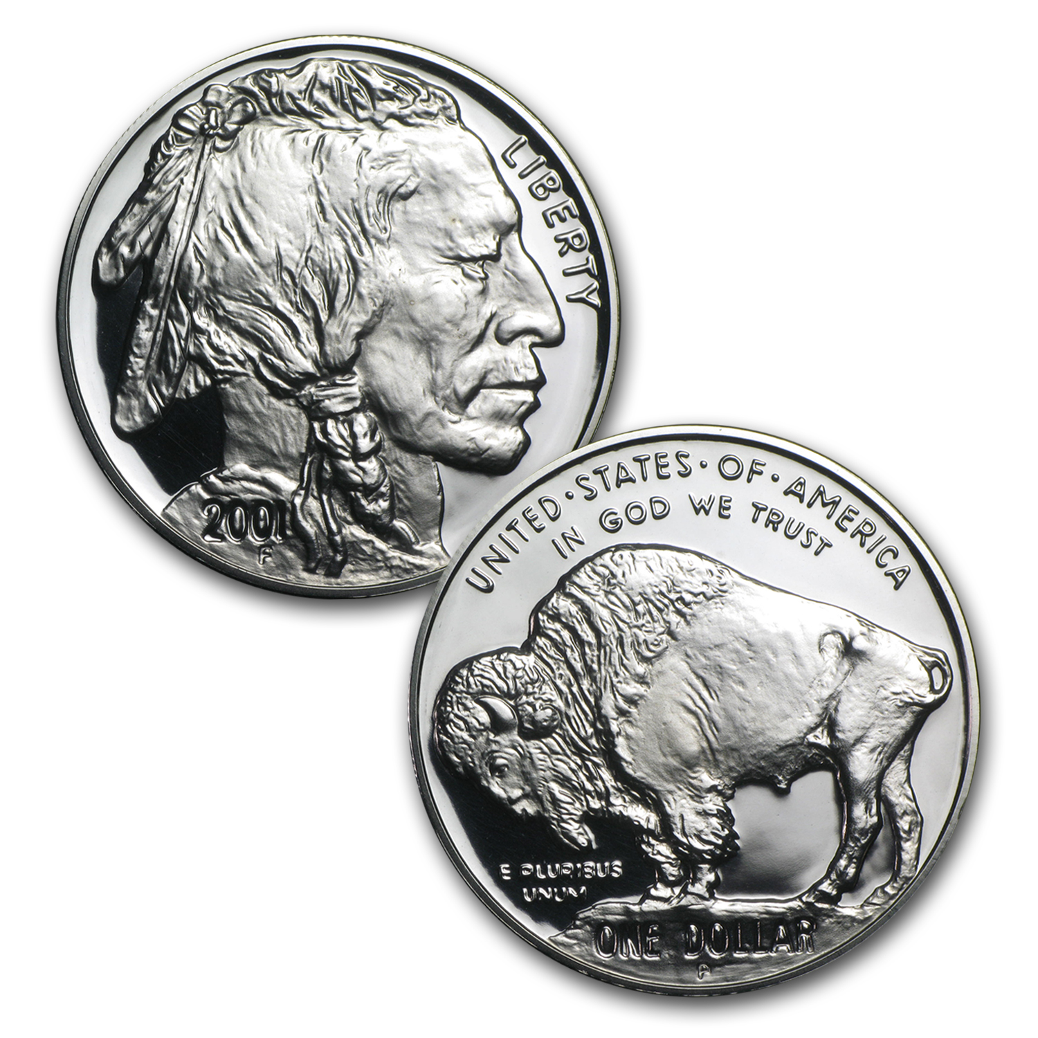 2001 Buffalo 2-Coin Set BU & Proof