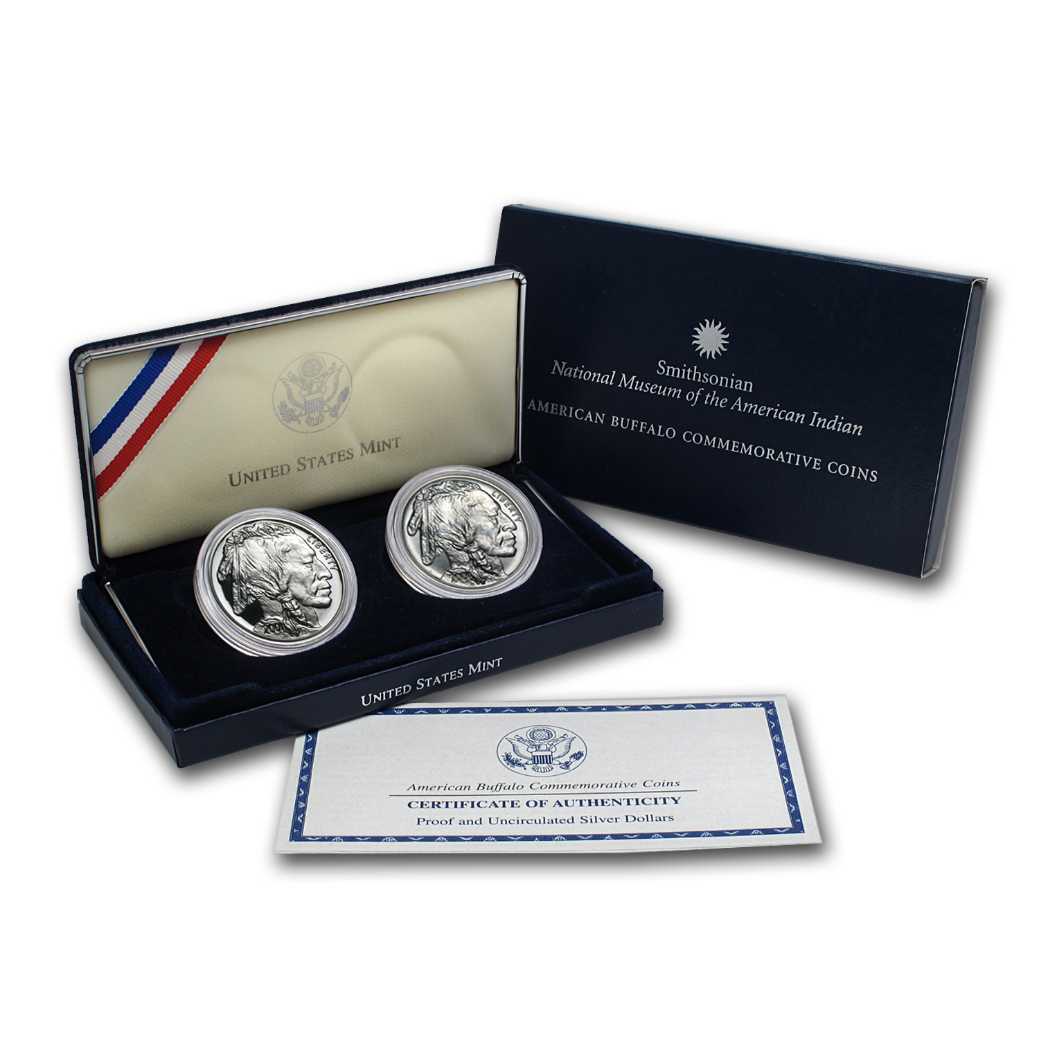 2001 Buffalo - (2 Coin Set) (BU & Proof)