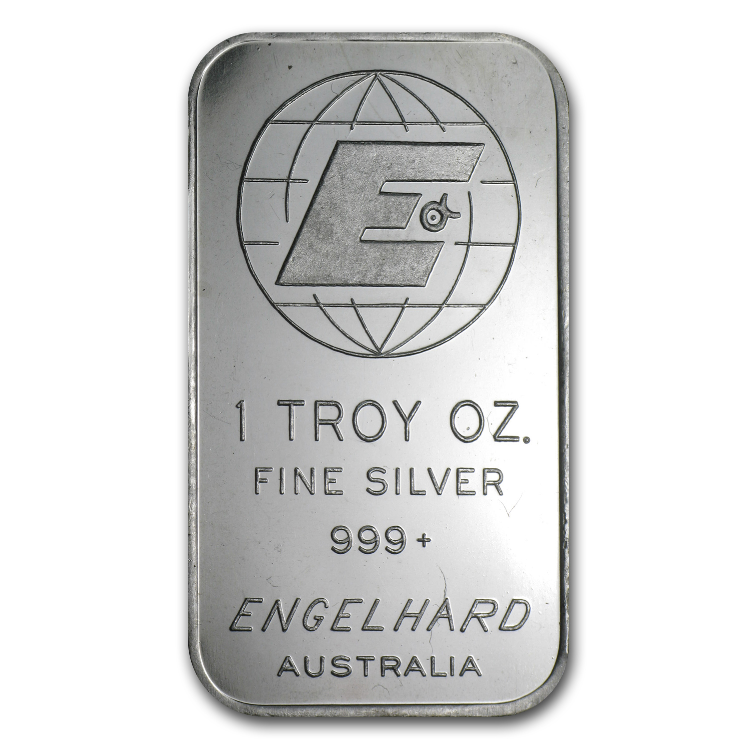 1 oz Silver Bar - Engelhard Australia (Tall/'E'/Frosted)