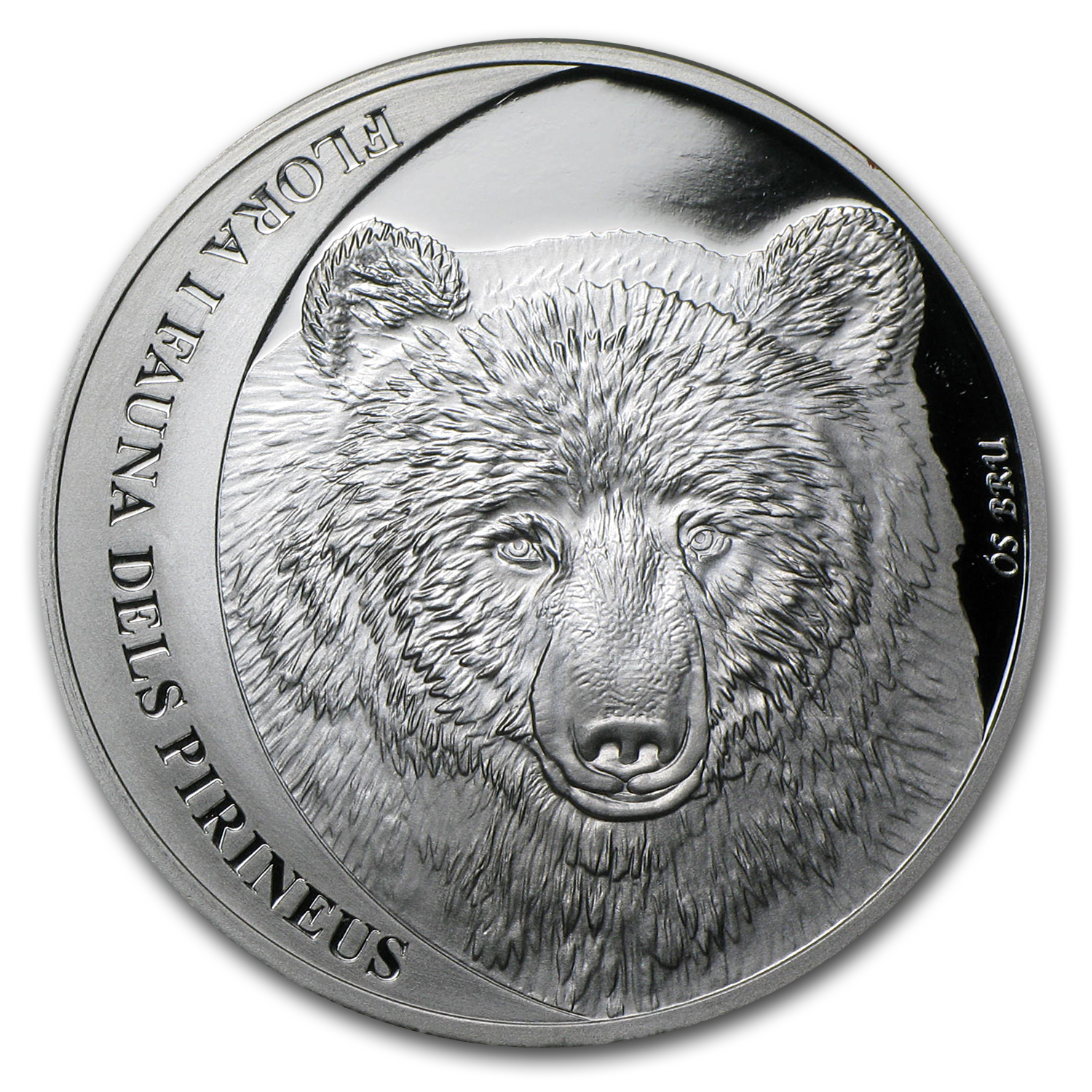 2010 Andorra Proof Silver 5 Diners Cantabrian Brown Bear