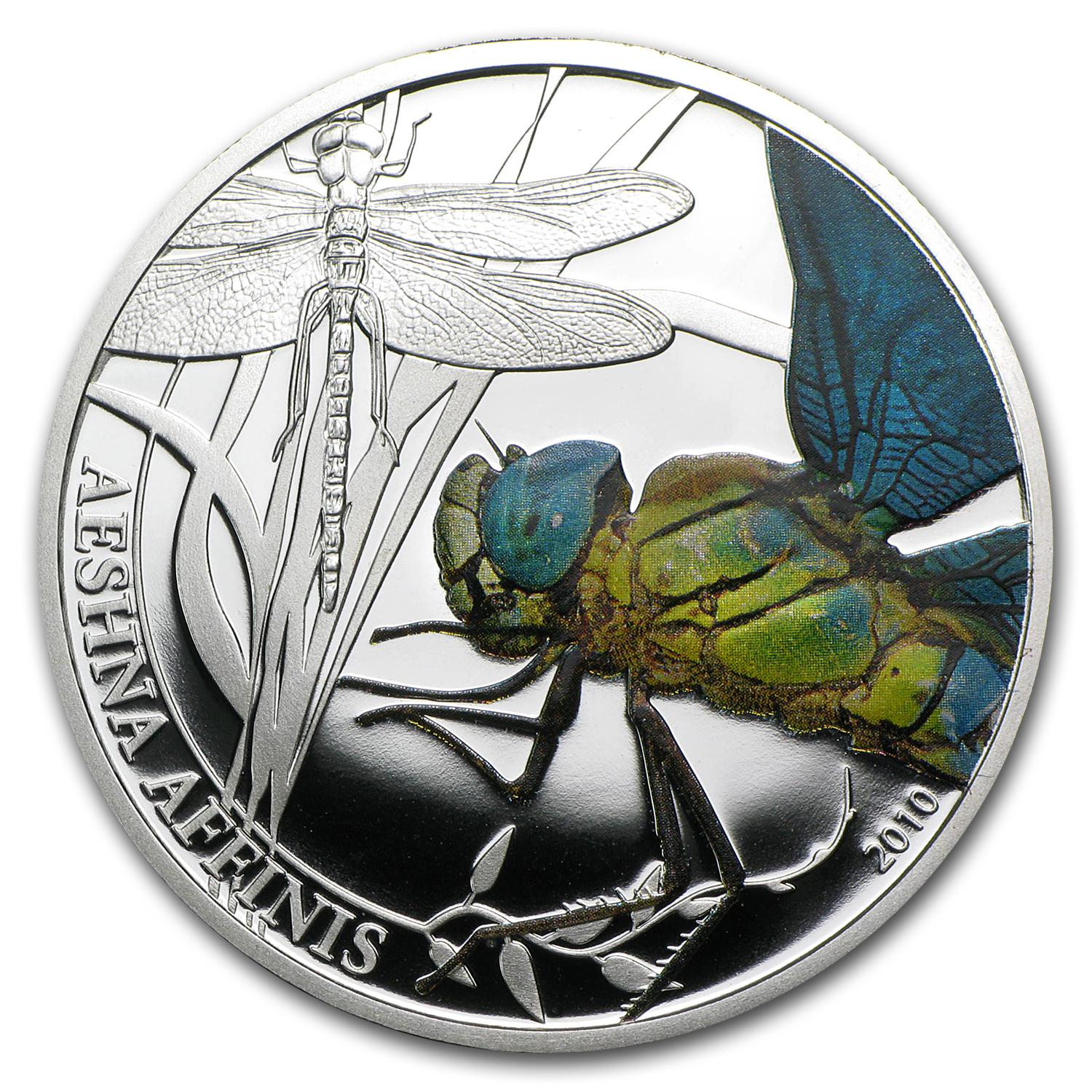 2010 Palau Proof Silver $2 World of Insects Dragonfly