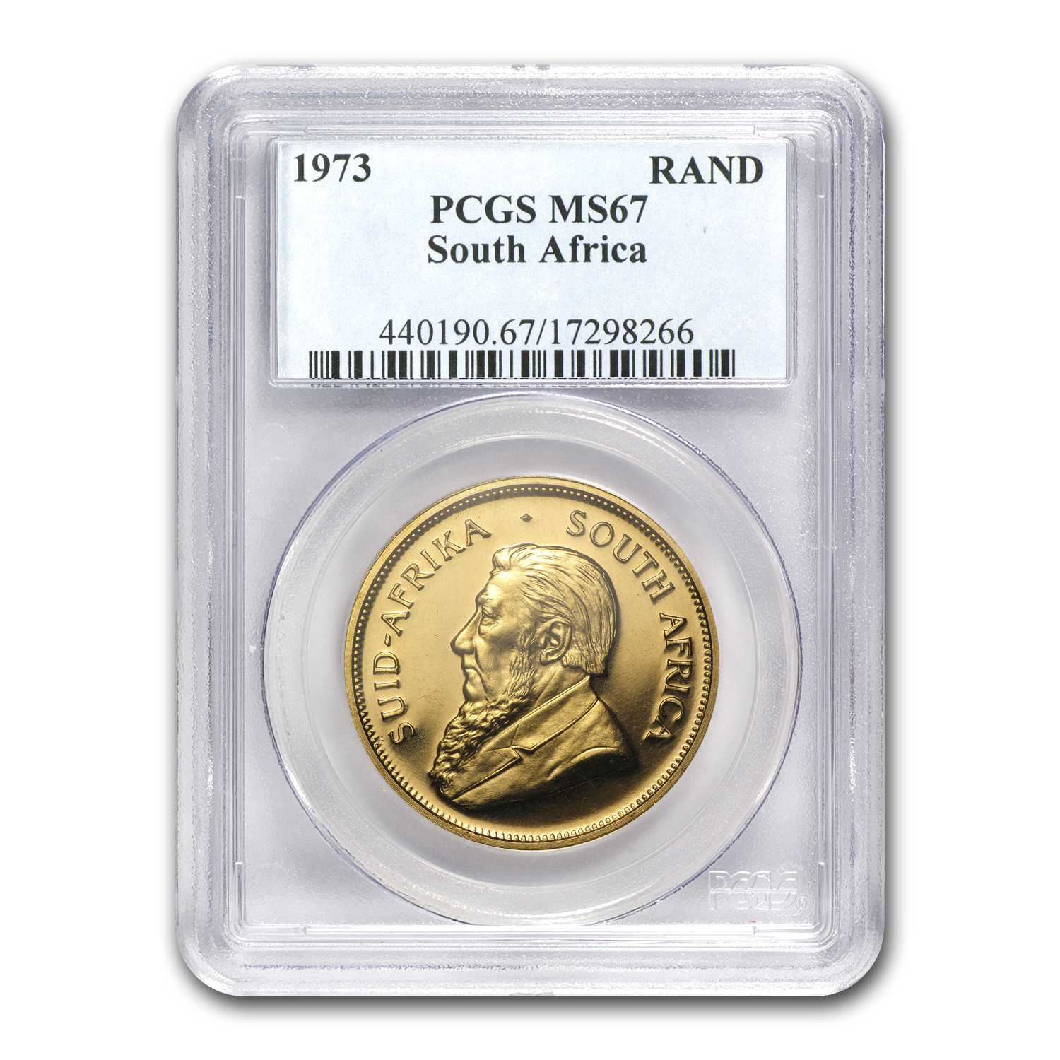 1973 South Africa 1 oz Gold Krugerrand MS-67 PCGS