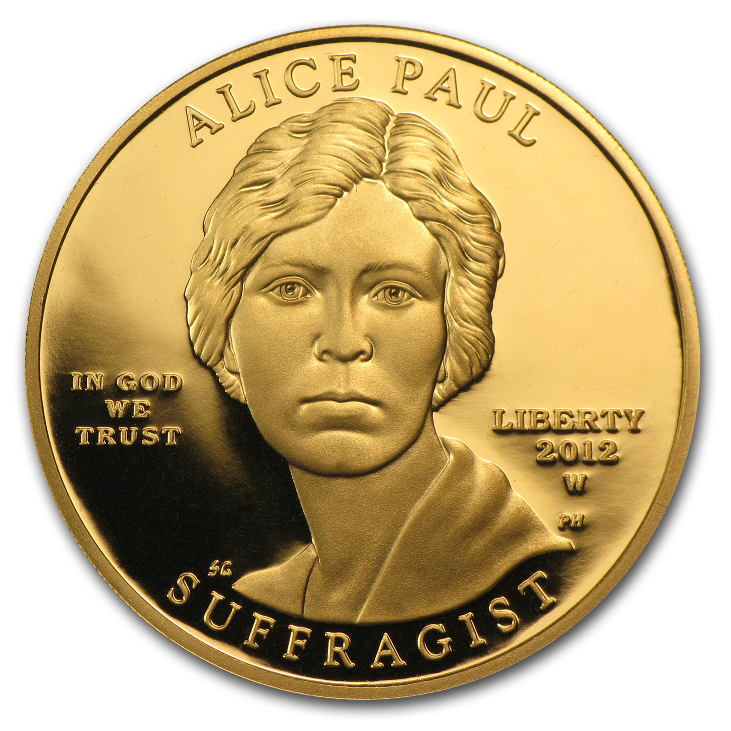 2012-W 1/2 oz Proof Gold Alice Paul (w/Box & COA)