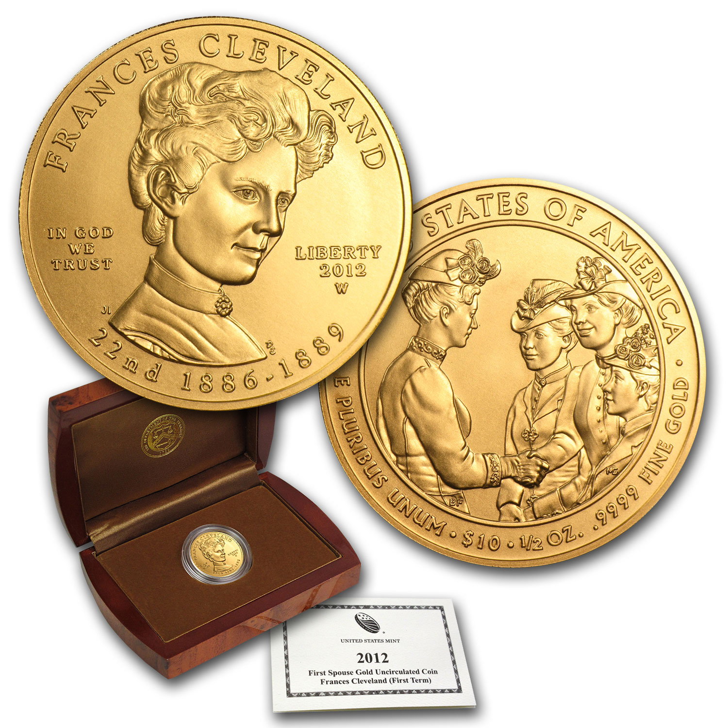 2012-W 1/2 oz Gold Frances Cleveland BU (w/Box & COA)