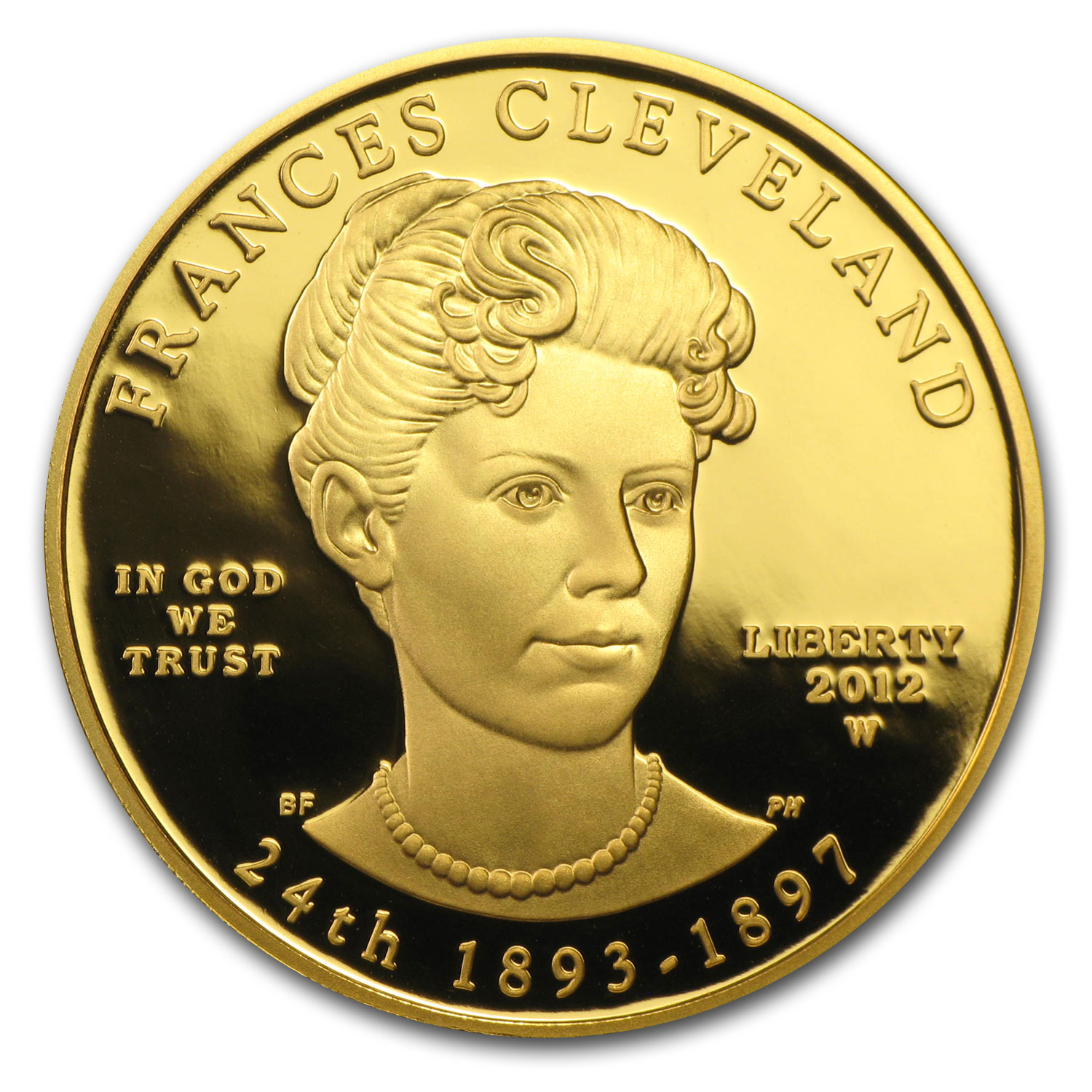 2012-W 1/2 oz Gold Frances Cleveland - 2nd Term Prf (w/Box & COA)