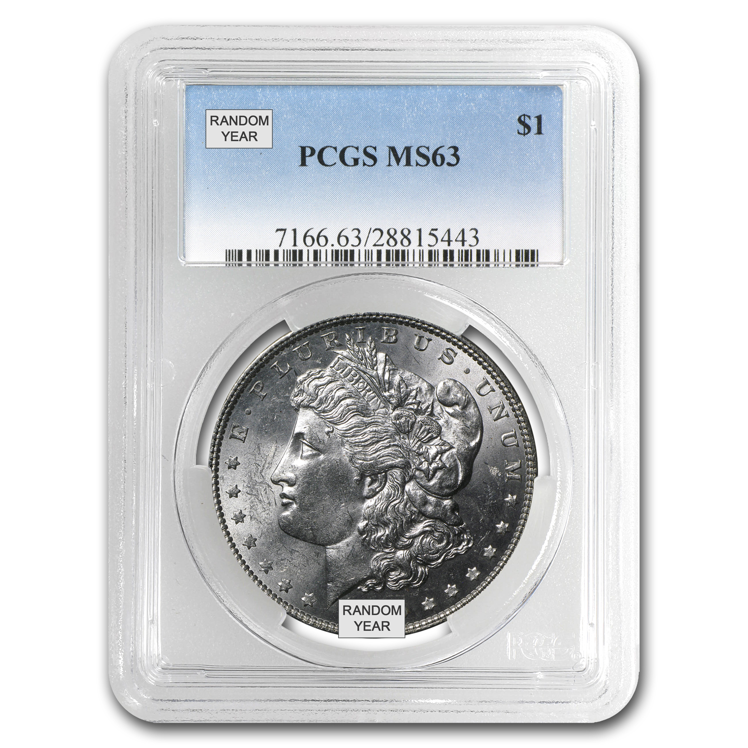1878-1904 Morgan Dollars - MS-63 PCGS